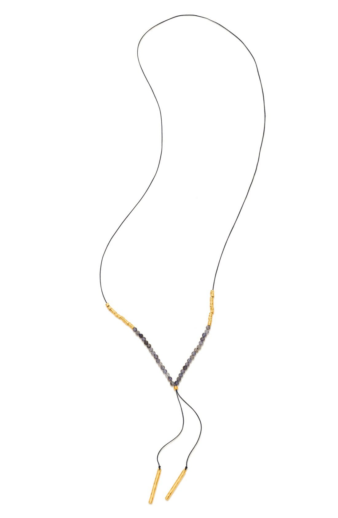 gorjana Power Gemstone Adjustable Y-Necklace