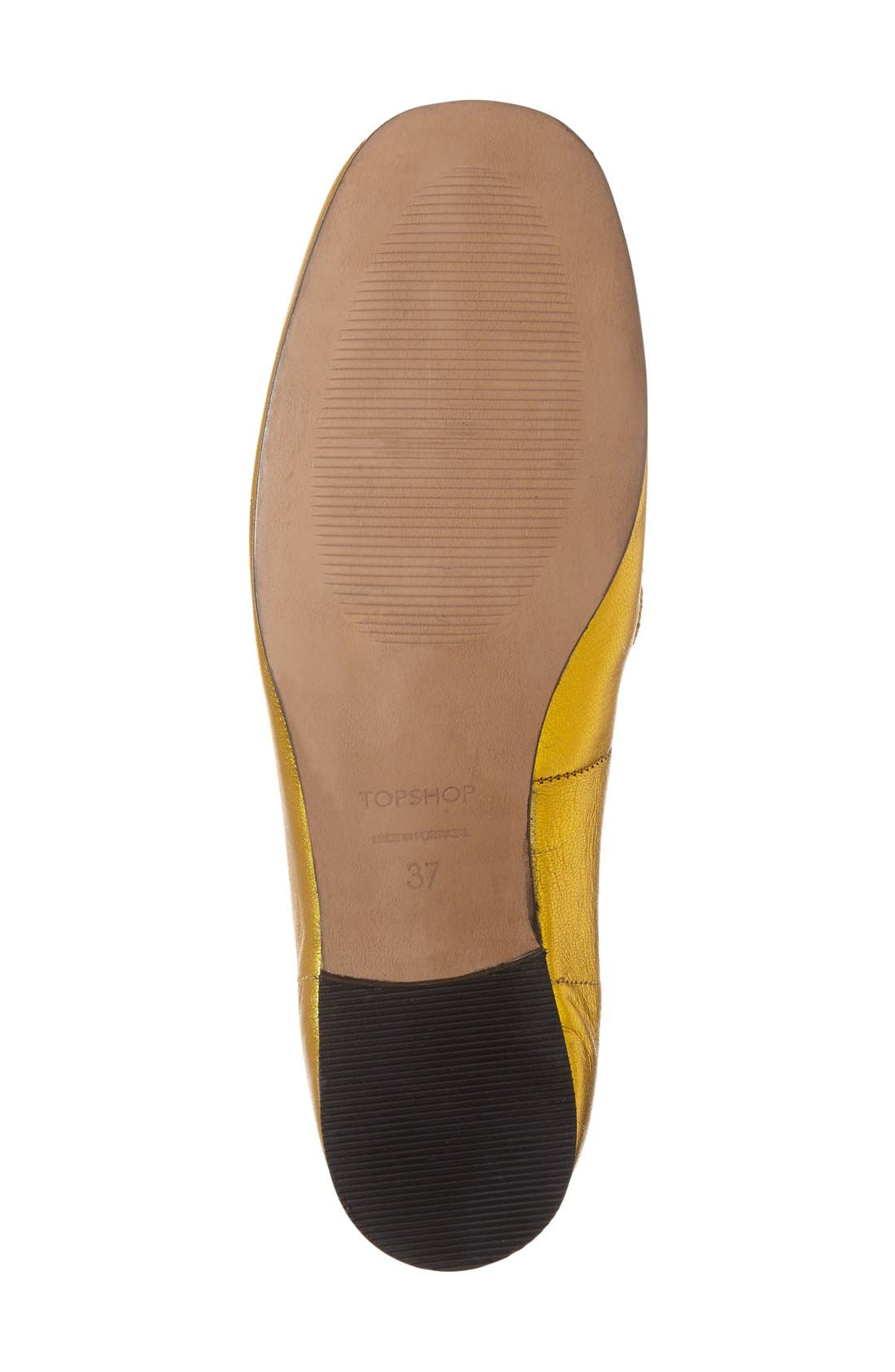 Alternate Image 4  - Topshop 'Karter' Square Toe Loafer (Women)