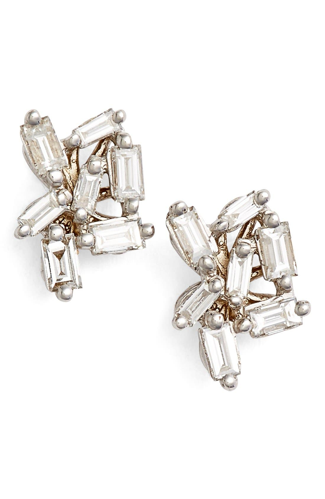 SUZANNE KALAN Fireworks Diamond Cluster Stud Earrings
