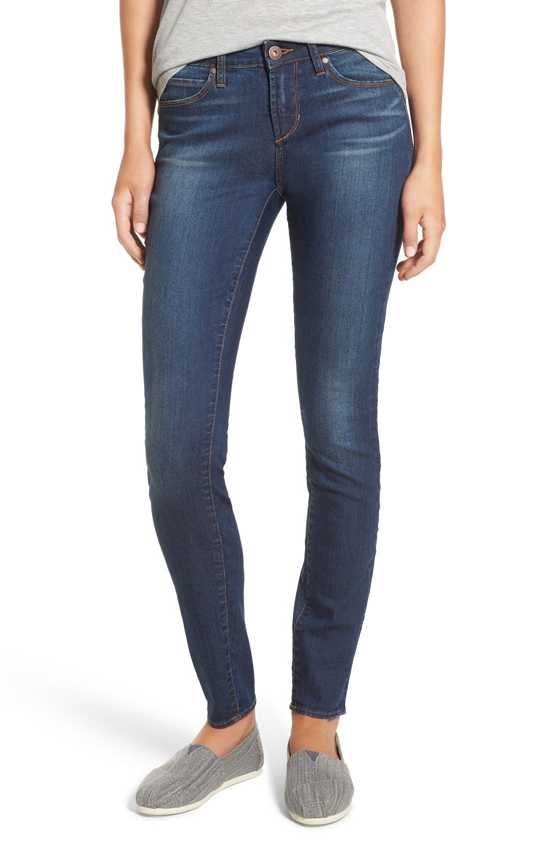 Alternate Image 1 Selected - Articles of Society 'Mya' Skinny Jeans (Americana)