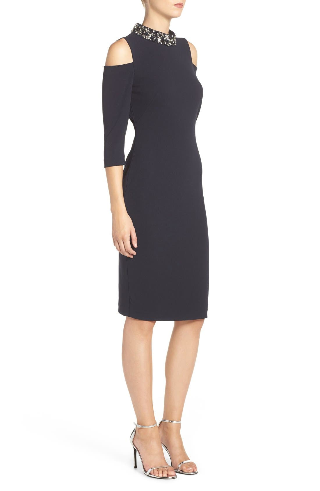 Alternate Image 3  - Eliza J Embellished Stretch Sheath Dress (Regular & Petite)