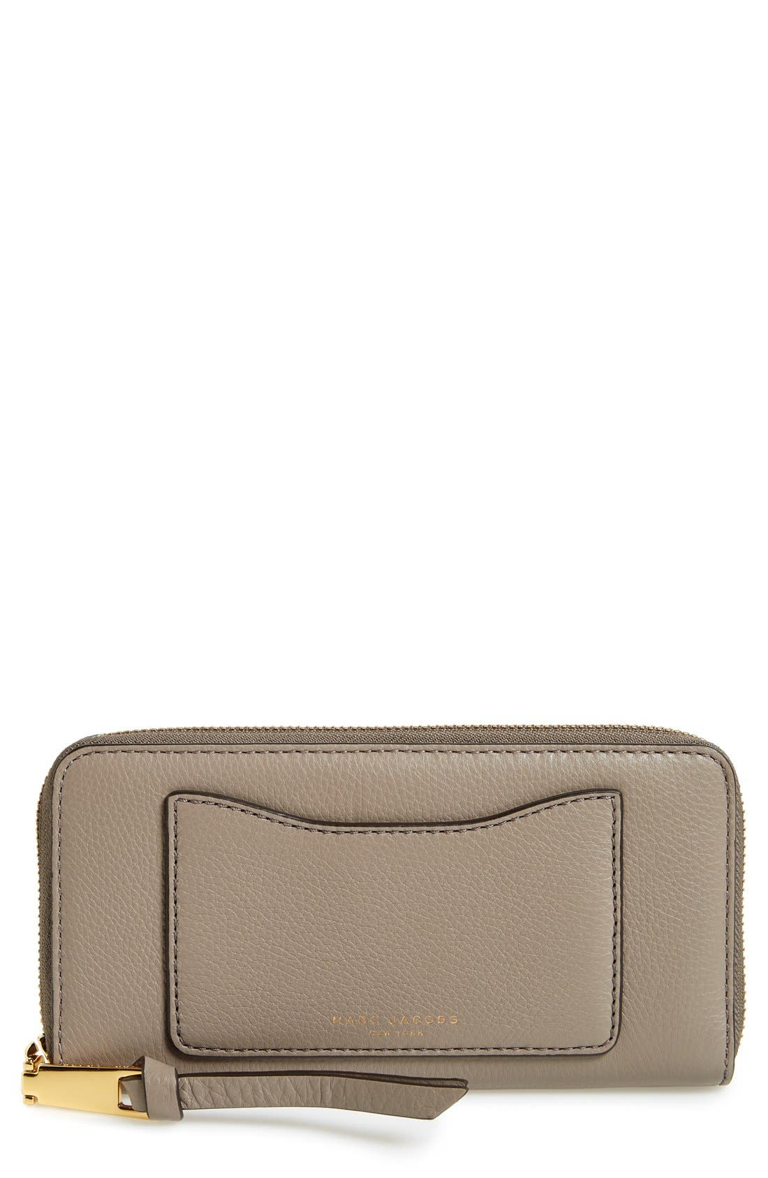 'Recruit Vertical' Leather Wallet,                         Main,                         color, Mink
