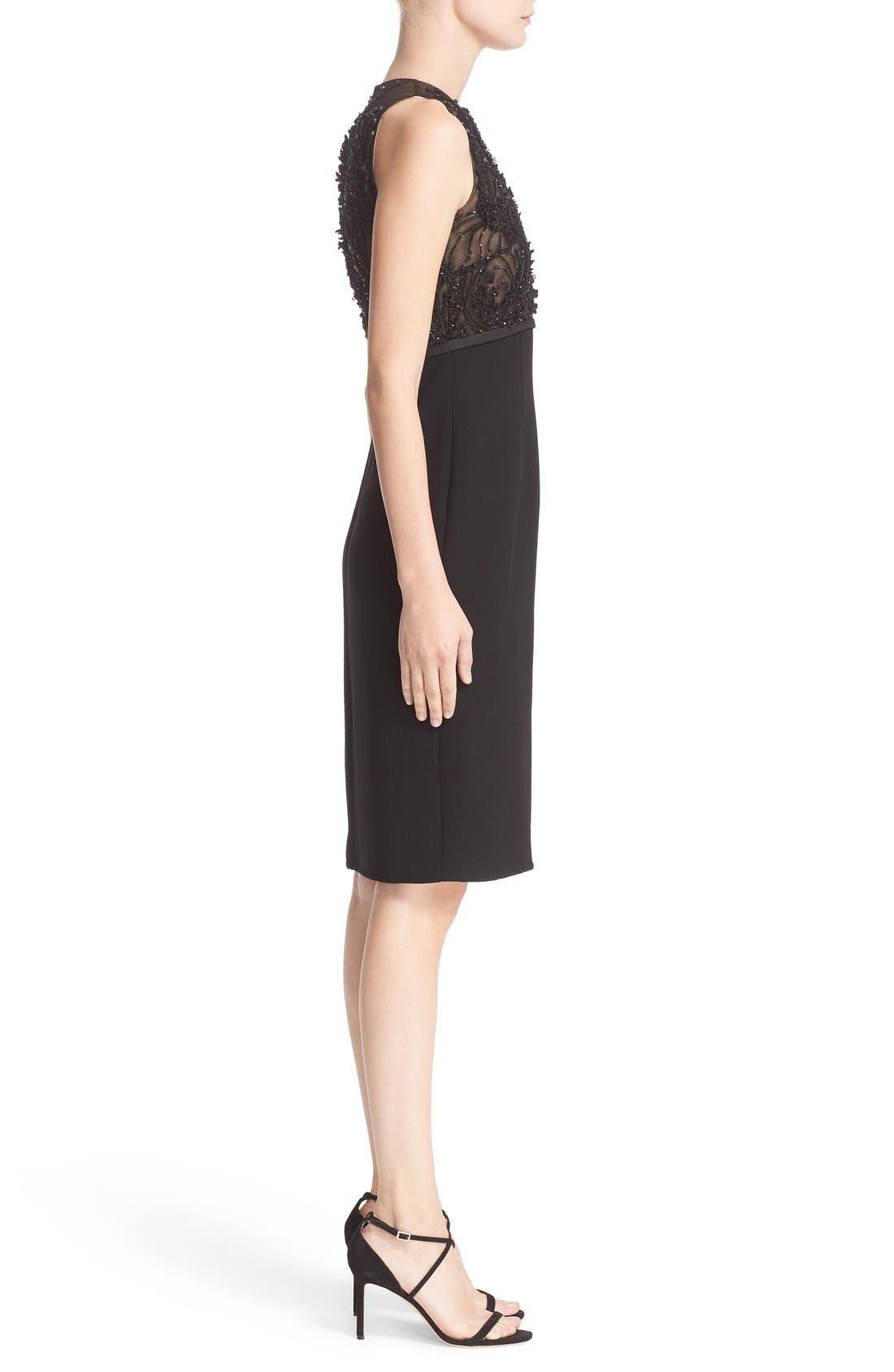 Alternate Image 4  - Carmen Marc Valvo Couture Embellished Bodice Sleeveless Cocktail Dress