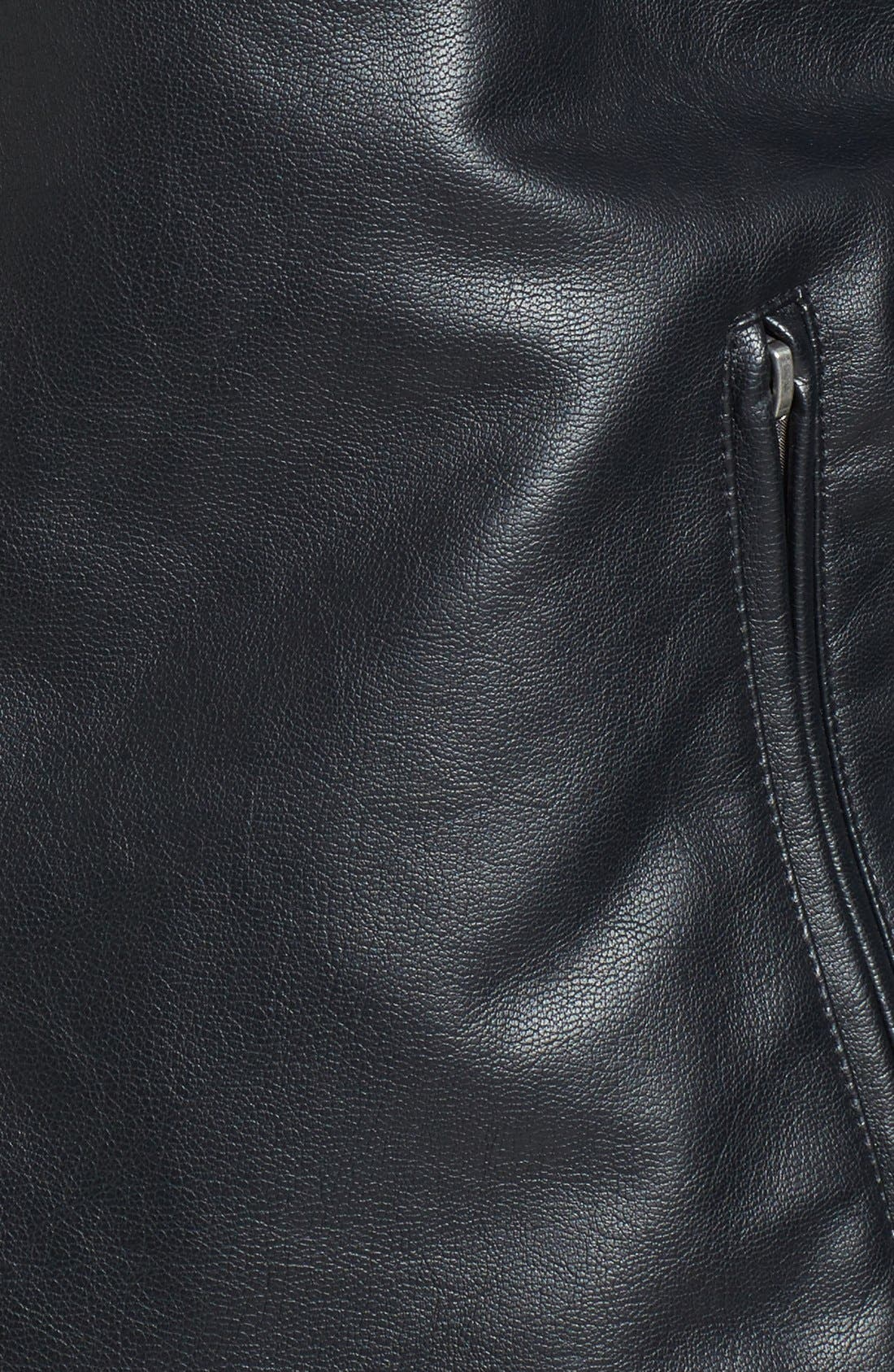 Alternate Image 5  - Cole Haan Faux Leather Varsity Jacket