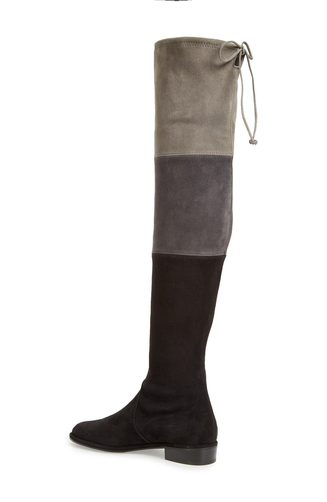 'Trio' Over the Knee Boot,                             Alternate thumbnail 2, color,                             Black Suede