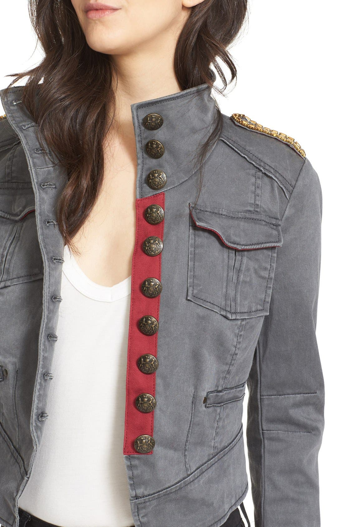 Alternate Image 4  - Free People Shrunken Officer Jacket
