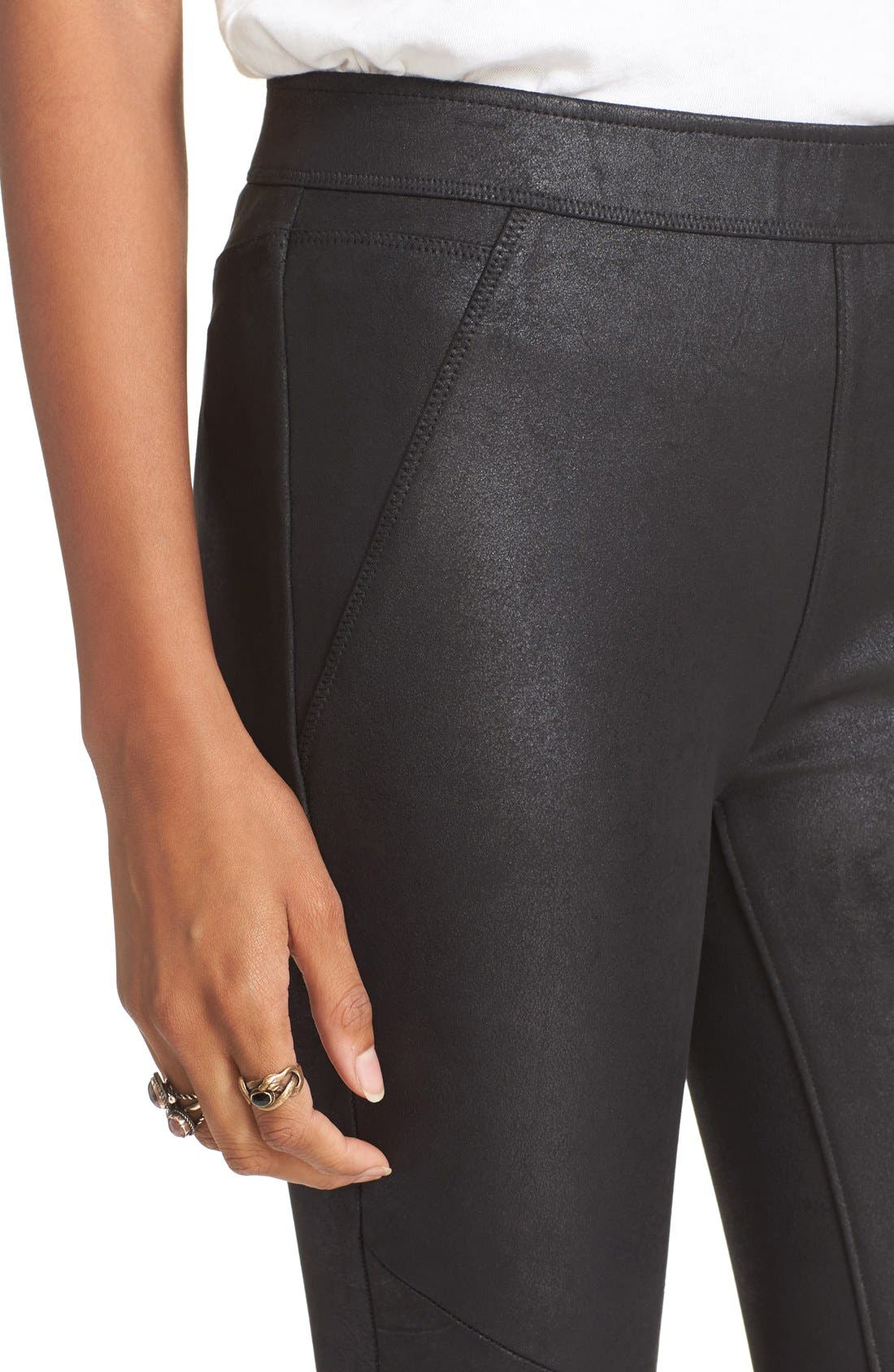 Alternate Image 4  - Free People Never Let Go Faux Leather Pants