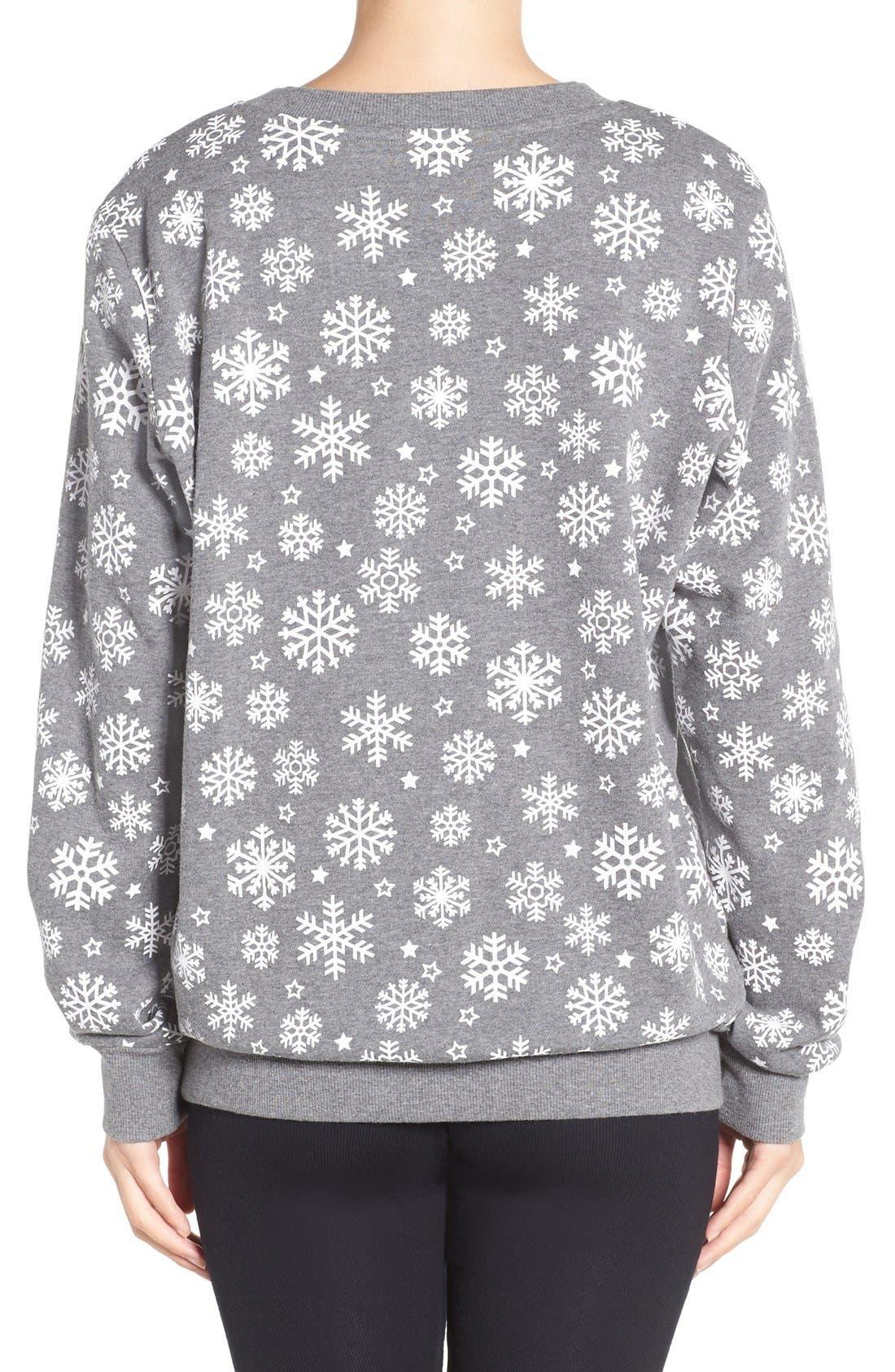 Alternate Image 2  - COZY ZOE Holiday Sweatshirt