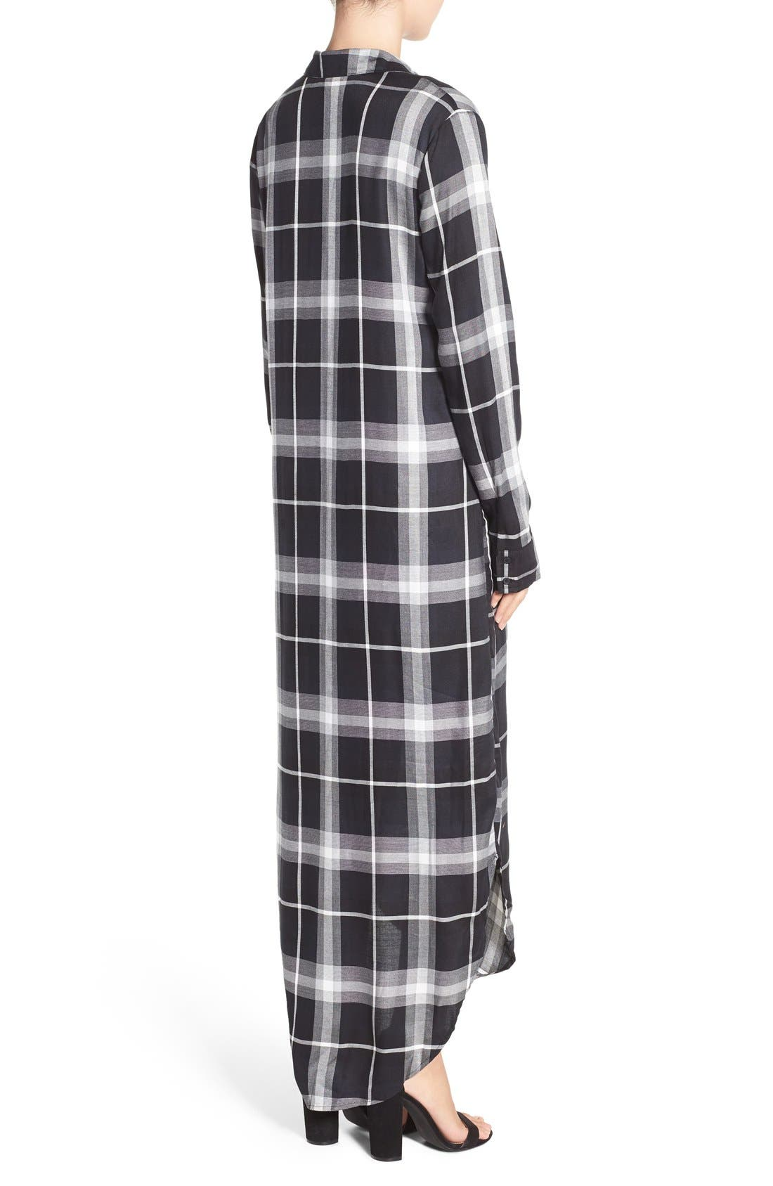 Alternate Image 2  - BB Dakota 'Coley' Plaid Maxi Shirtdress