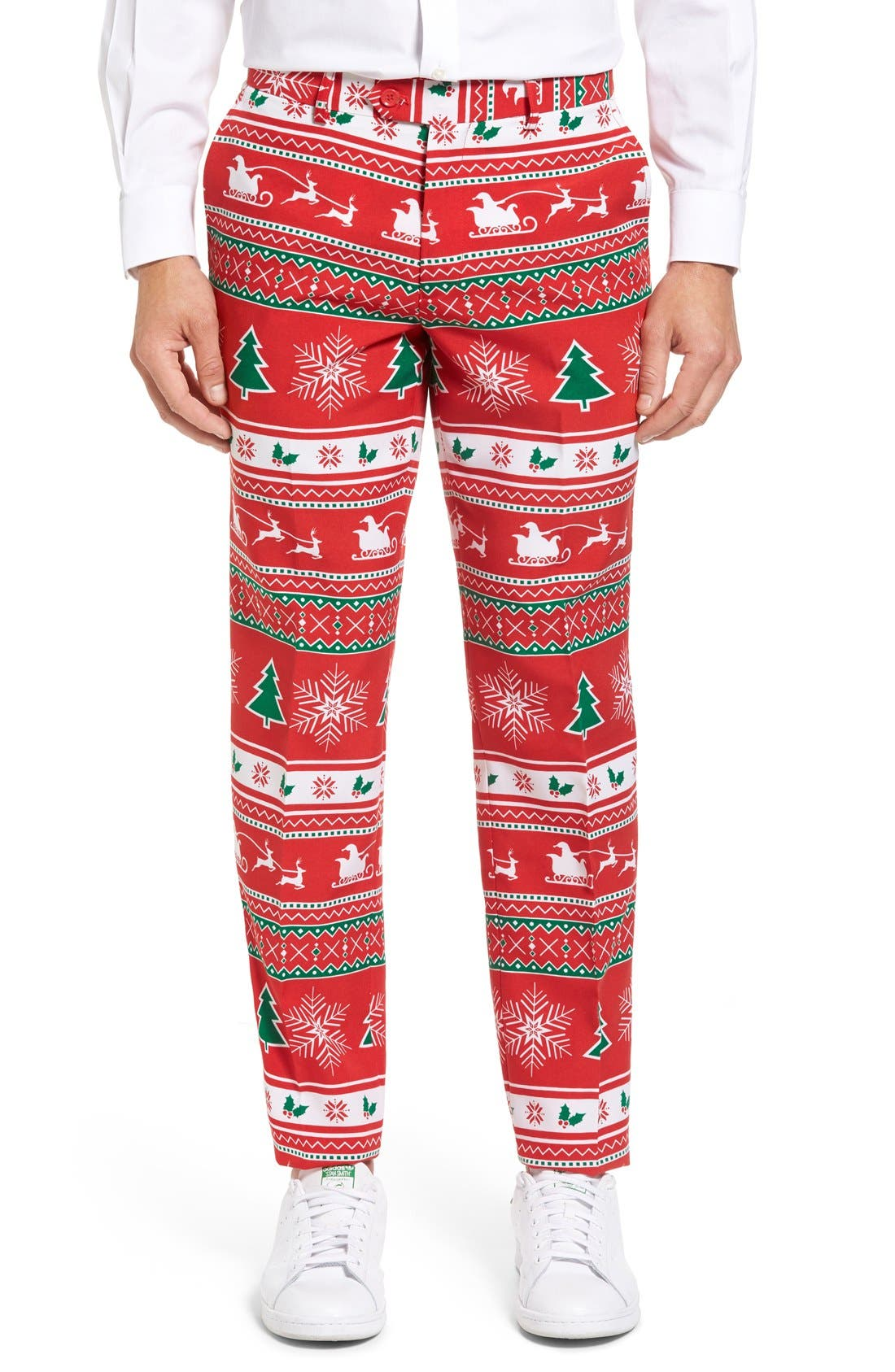 Alternate Image 6  - OppoSuits 'Winter Wonderland' Trim Fit Two-Piece Suit with Tie