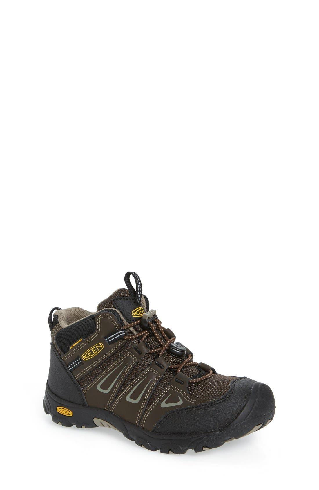 'Oakridge' Waterproof Hiking Boot,                             Main thumbnail 1, color,                             Brown