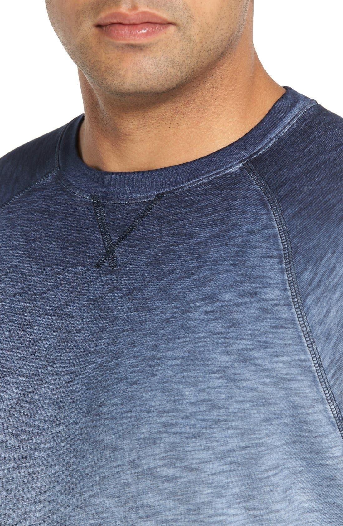 'Santiago' Ombré Crewneck Sweatshirt,                             Alternate thumbnail 4, color,                             Navy
