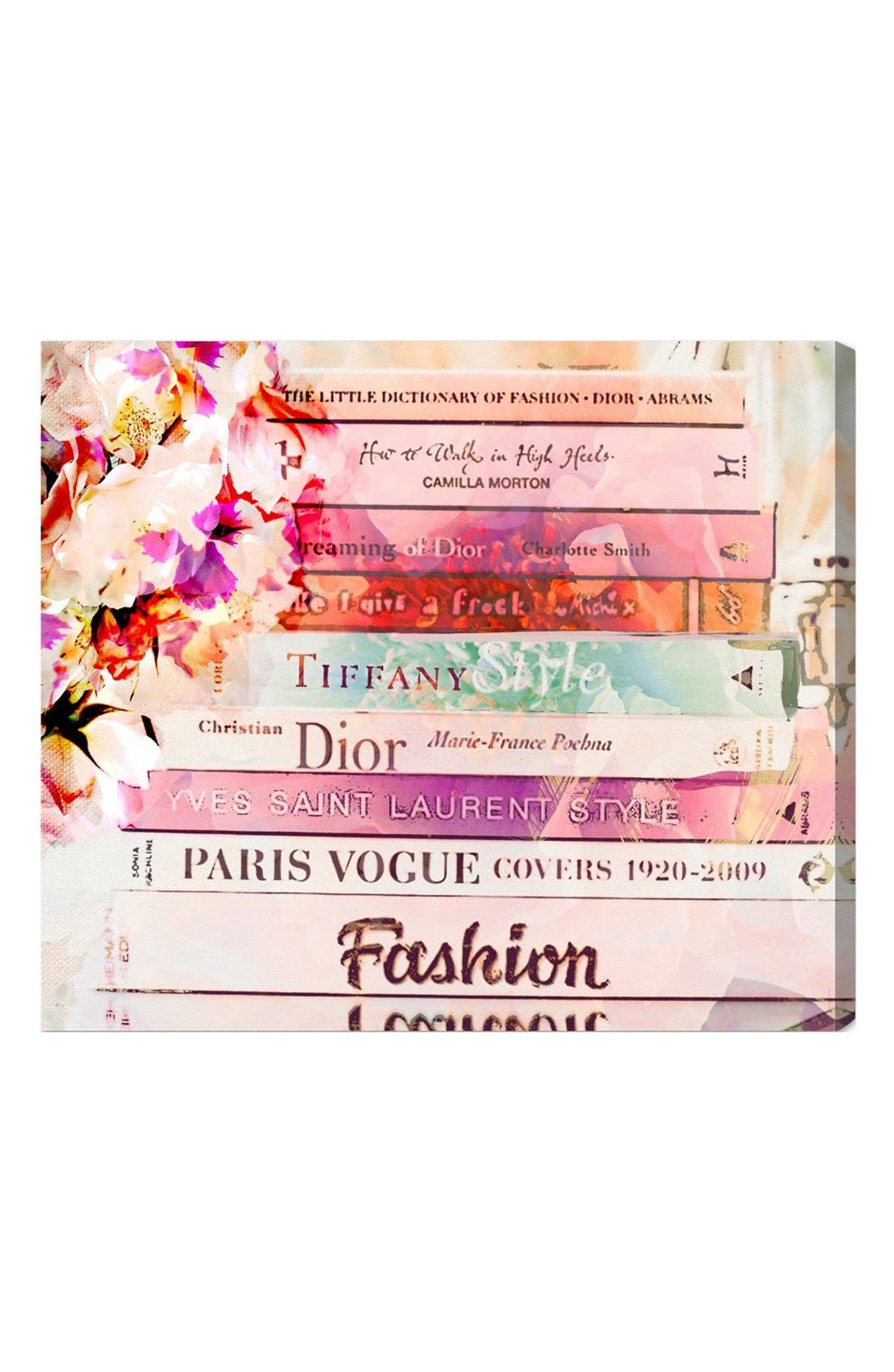 Alternate Image 1 Selected - Oliver Gal 'Fashion Books' Canvas Print