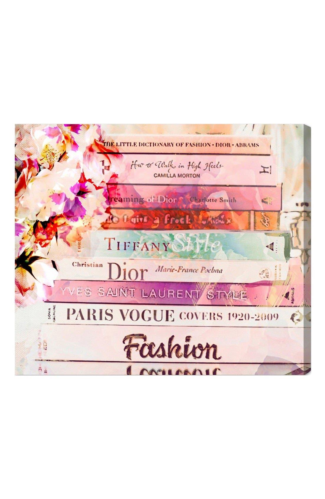 'Fashion Books' Canvas Print,                         Main,                         color, Pink
