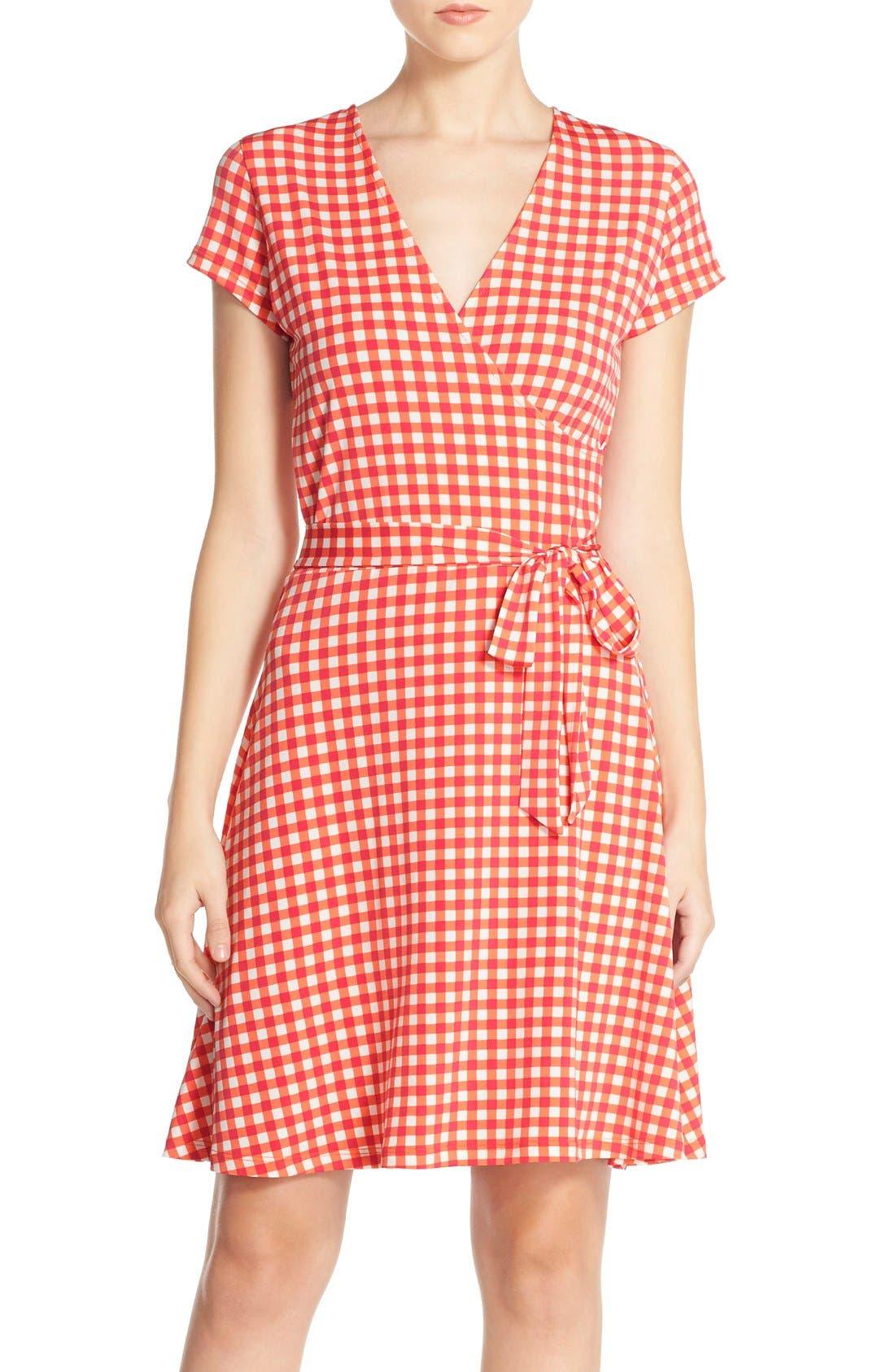 Main Image - Leota Print Jersey Faux Wrap Dress