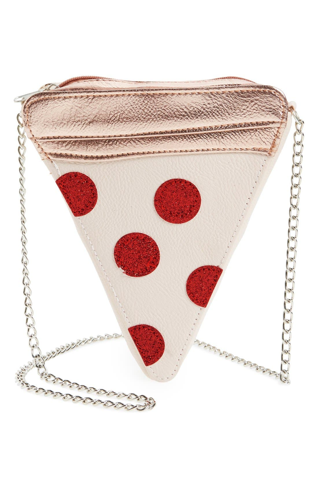 Capelli of New York 'Pizza' Crossbody Bag (Girls)
