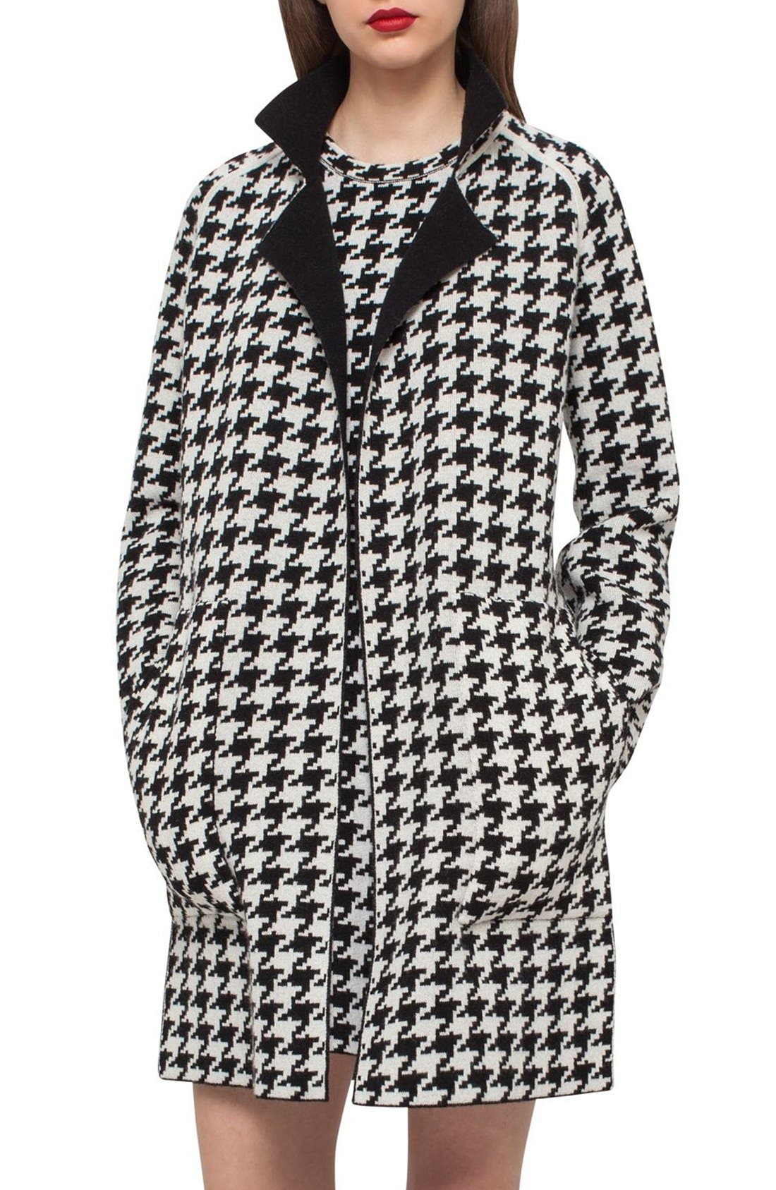 Main Image - Akris Reversible Houndstooth Double Face Cashmere Coat