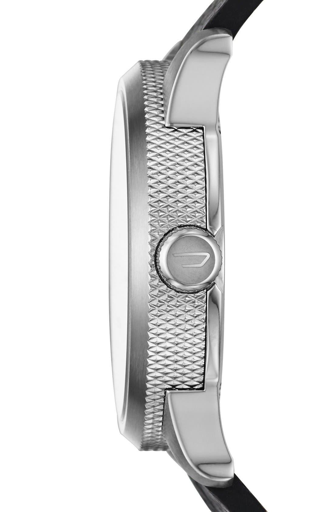 Alternate Image 2  - DIESEL® 'Rasp' Leather Strap Watch, 46mm