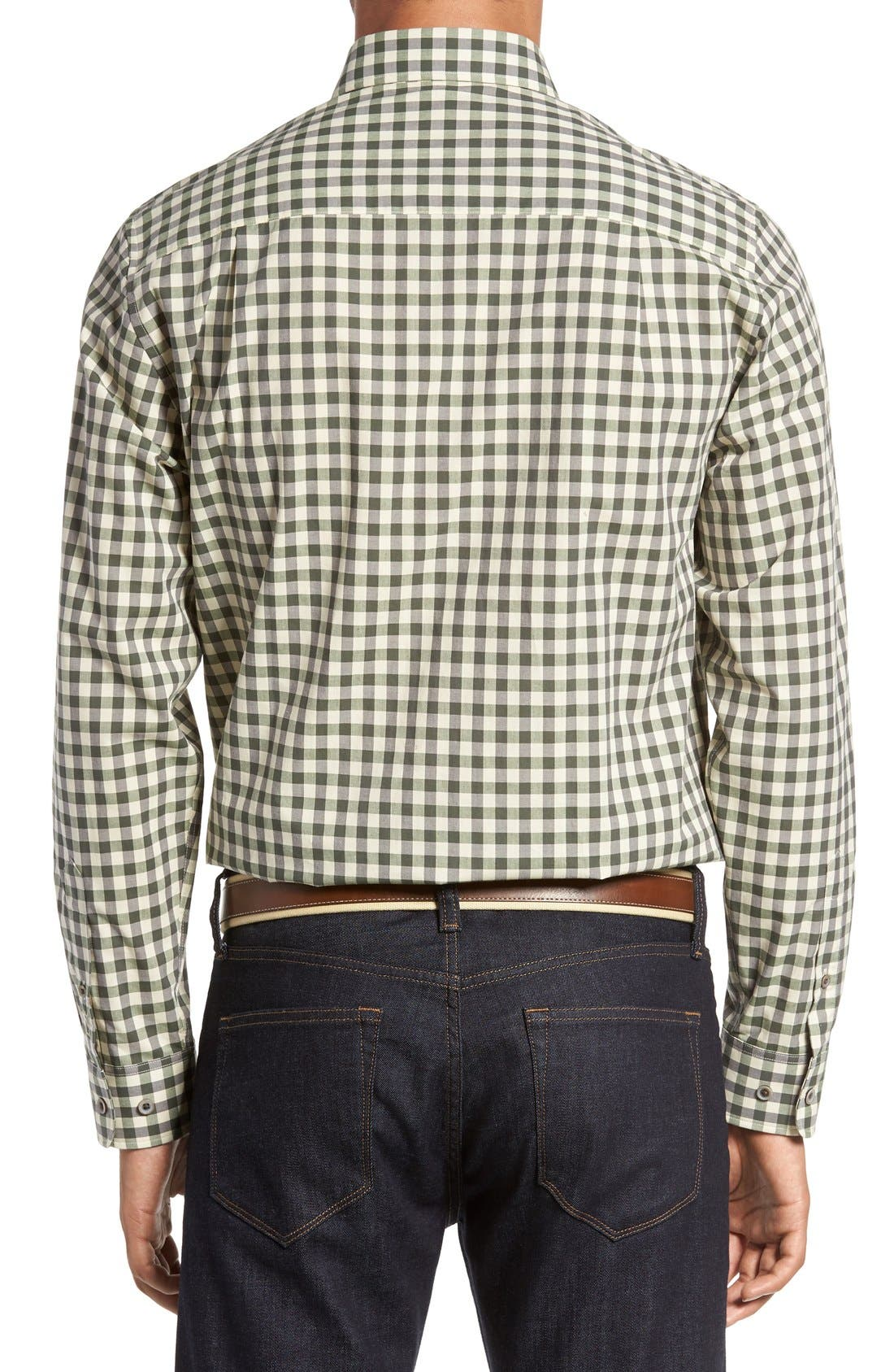 'Wildwood' Regular Fit Check Sport Shirt,                             Alternate thumbnail 3, color,                             Croquet
