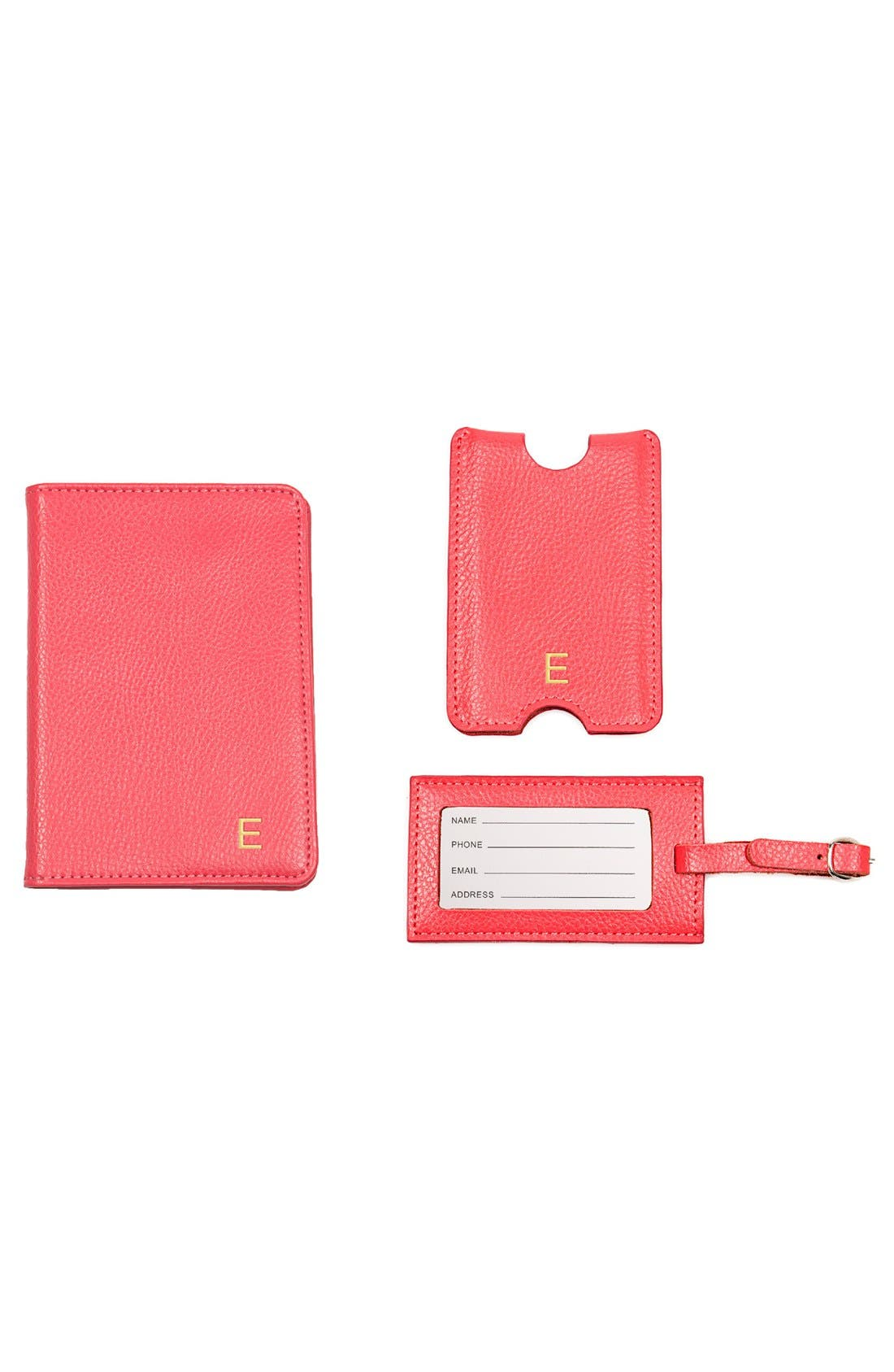 Alternate Image 2  - Cathy's Concepts Monogram Passport Case & Luggage Tag