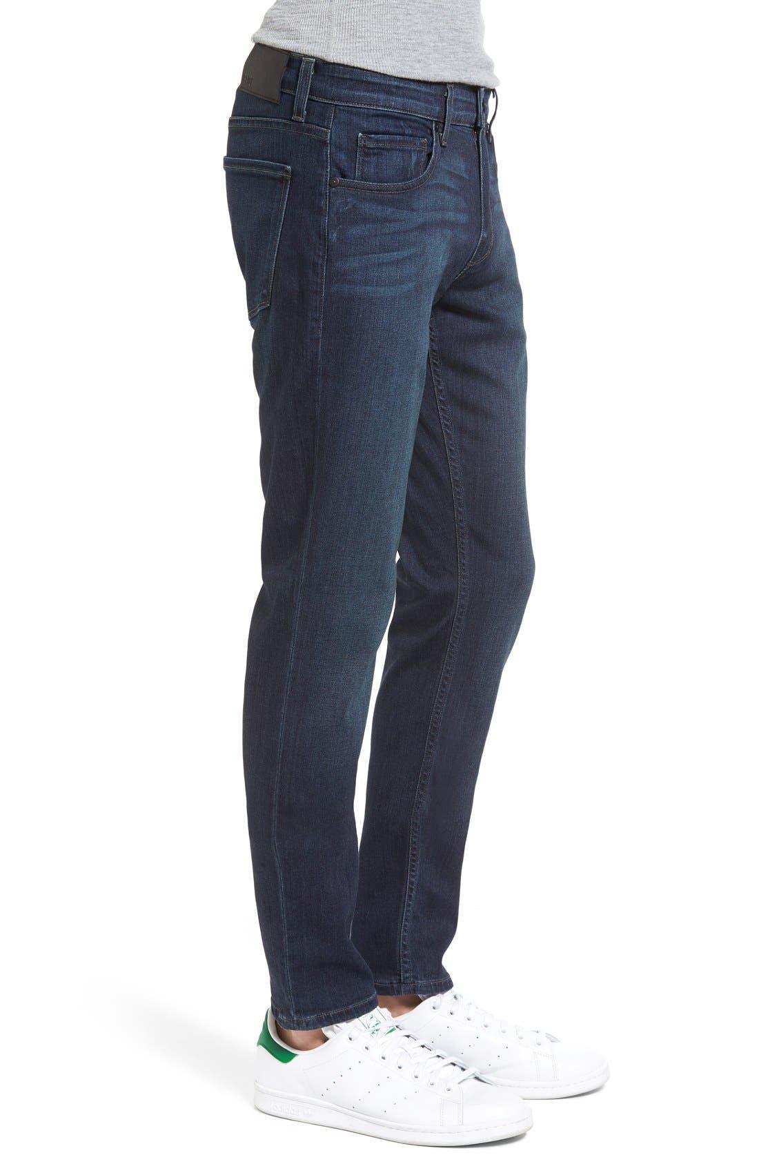Transcend - Croft Skinny Fit Jeans,                             Alternate thumbnail 3, color,                             After Hours