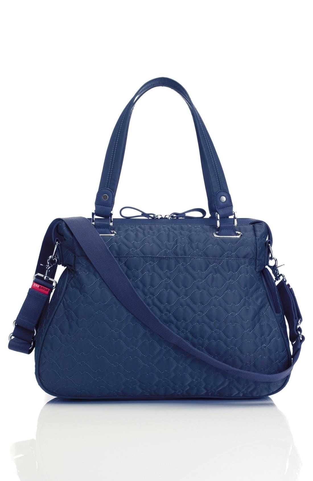 'Anna' Diaper Bag,                             Alternate thumbnail 2, color,                             Navy