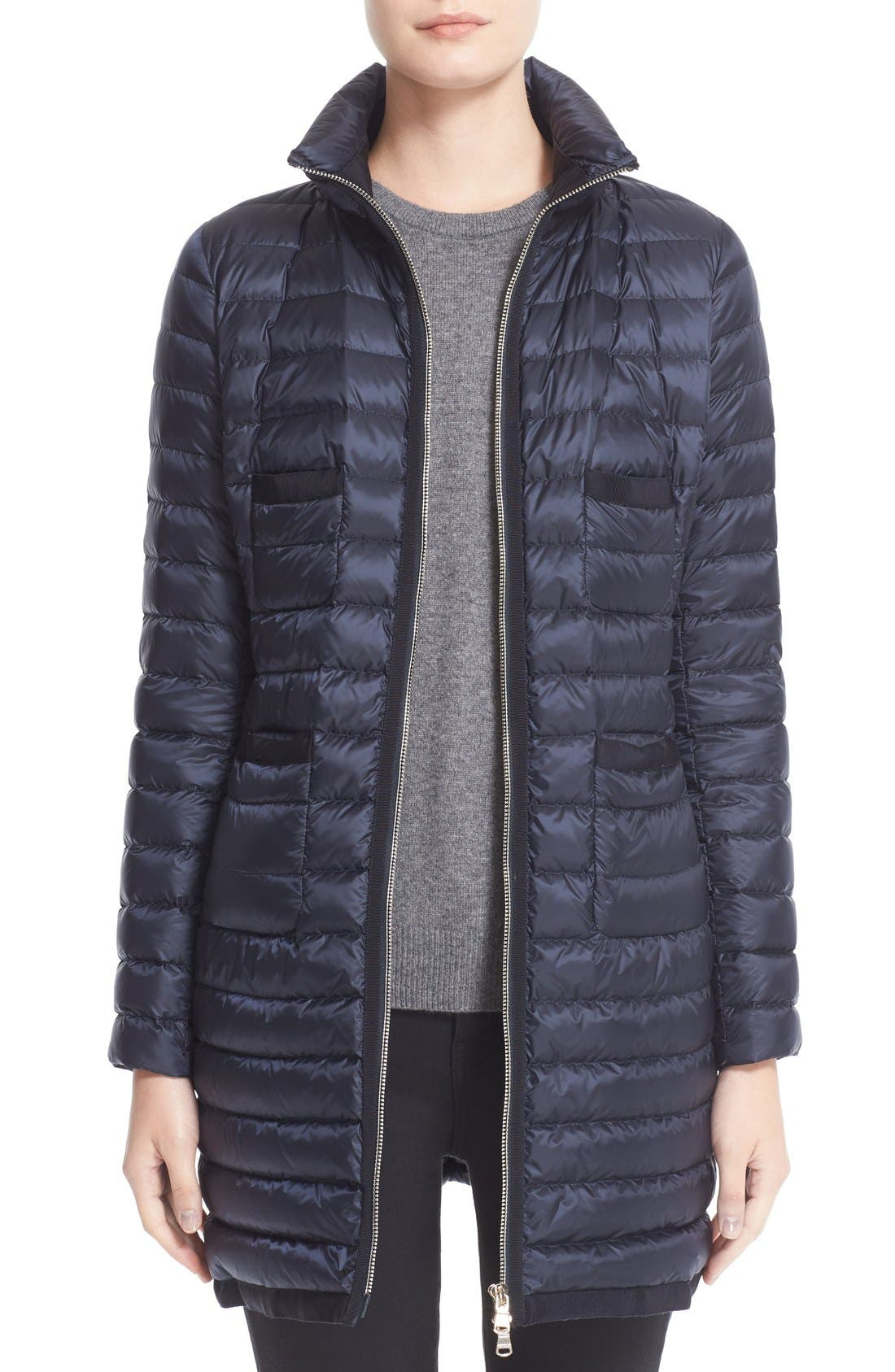 Main Image - Moncler Bogue Water Resistant Long Down Jacket