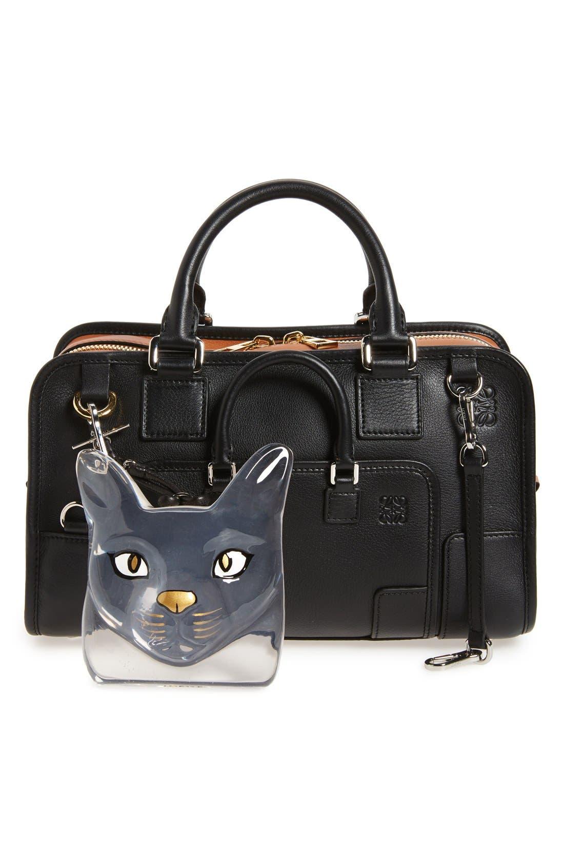 Cat Face Bag Charm,                             Alternate thumbnail 2, color,                             Transparent