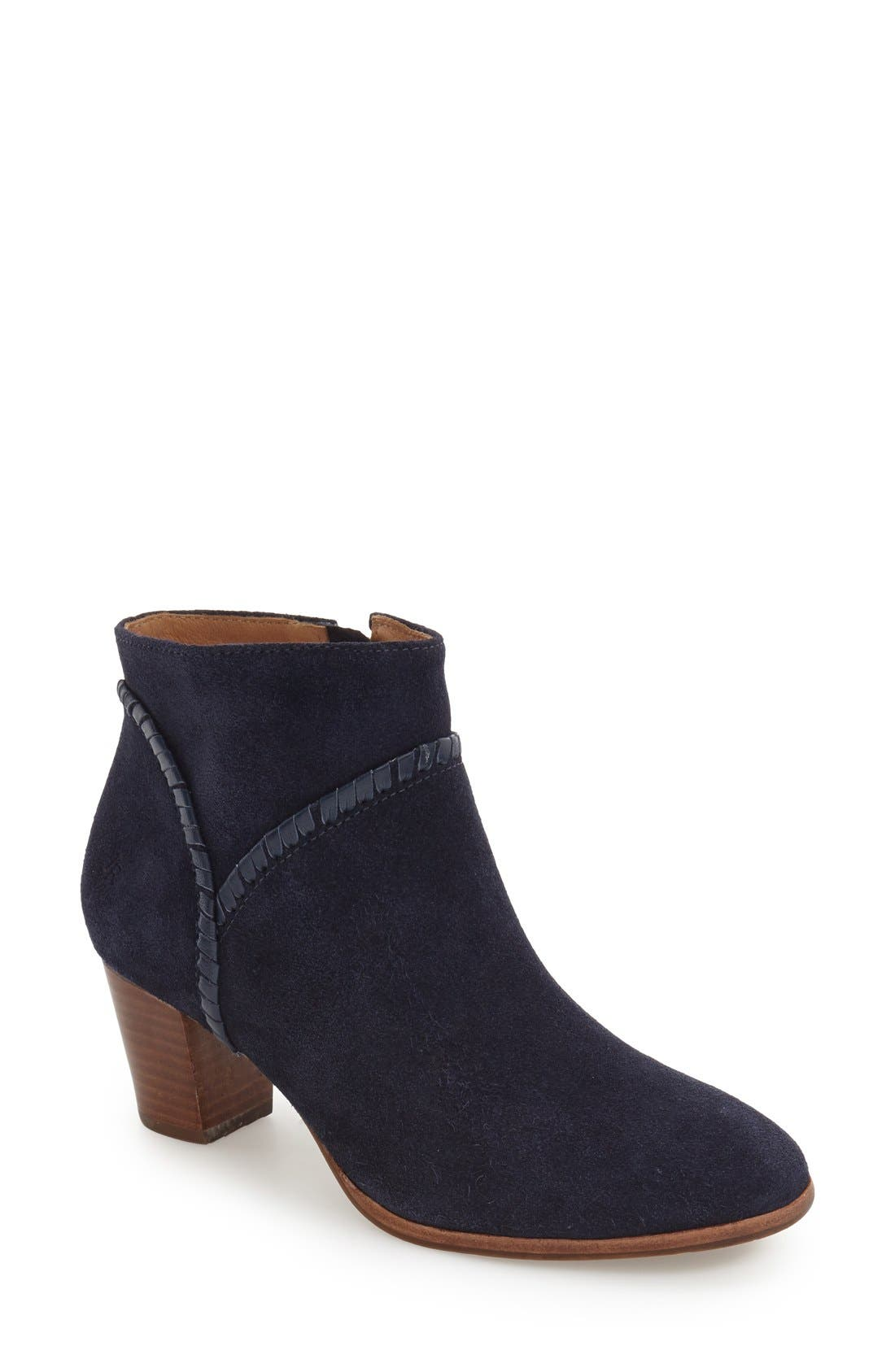 'Chandler' Bootie,                             Main thumbnail 1, color,                             Midnight Suede