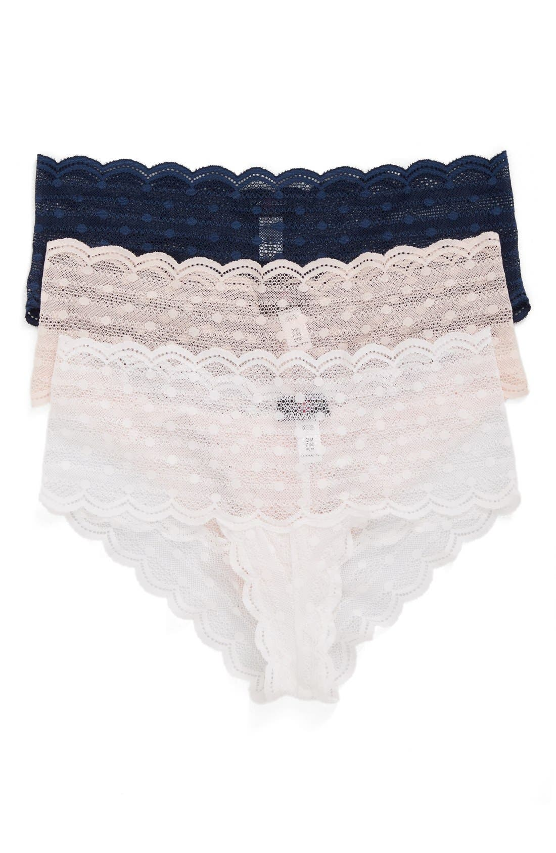 Cosabella Sweet Treat 3-Pack Lace Briefs
