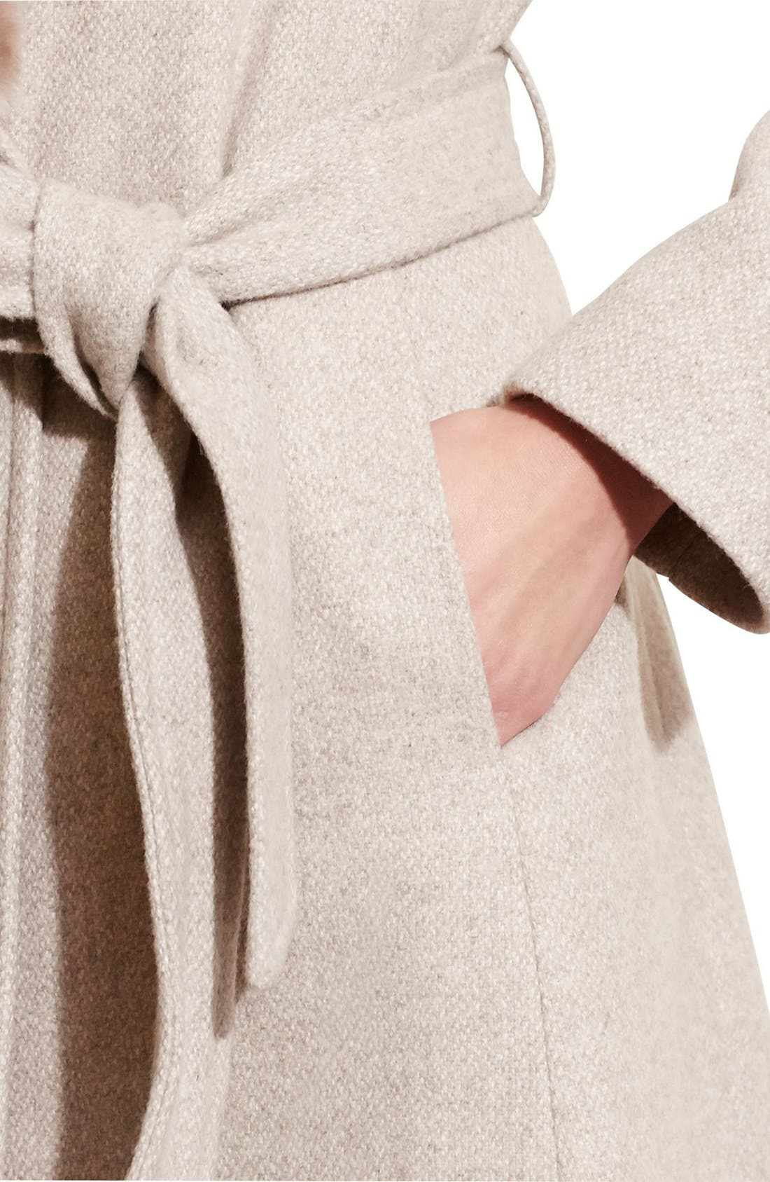 Alternate Image 4  - Lauren Ralph Lauren Faux Fur Collar Wool Blend Long Wrap Coat