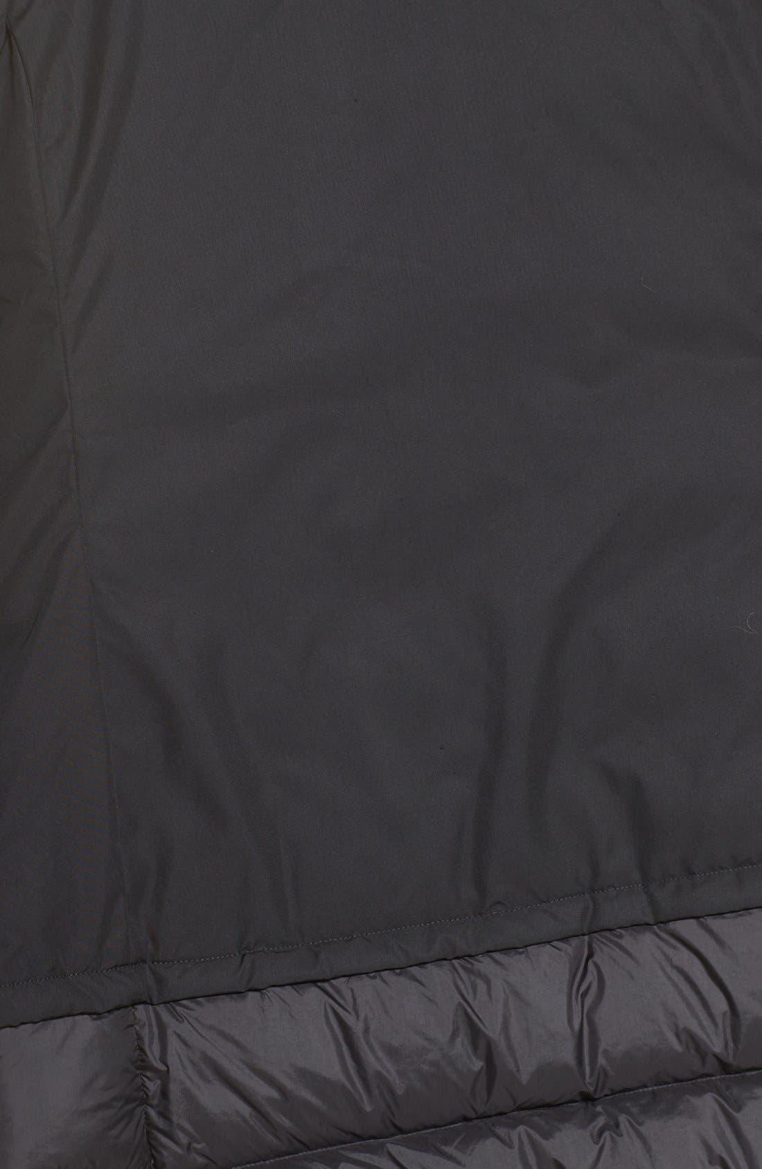 Tuvu Water Repellent Parka with Faux Fur Trim,                             Alternate thumbnail 6, color,                             Tnf Black
