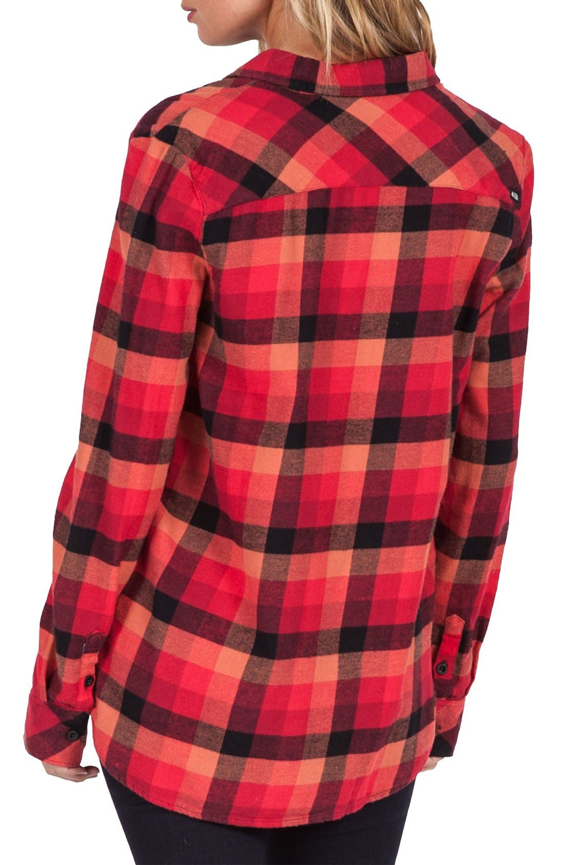 Alternate Image 2  - Volcom Desert High Plaid Top