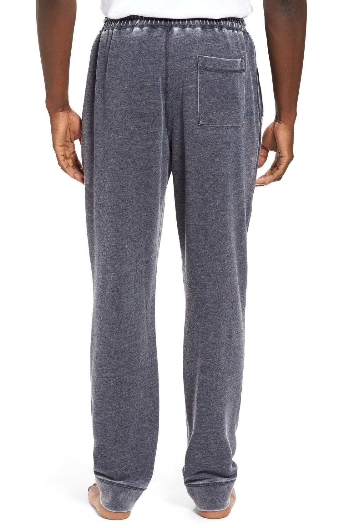 Alternate Image 2  - Daniel Buchler Washed Cotton Blend Terry Lounge Pants