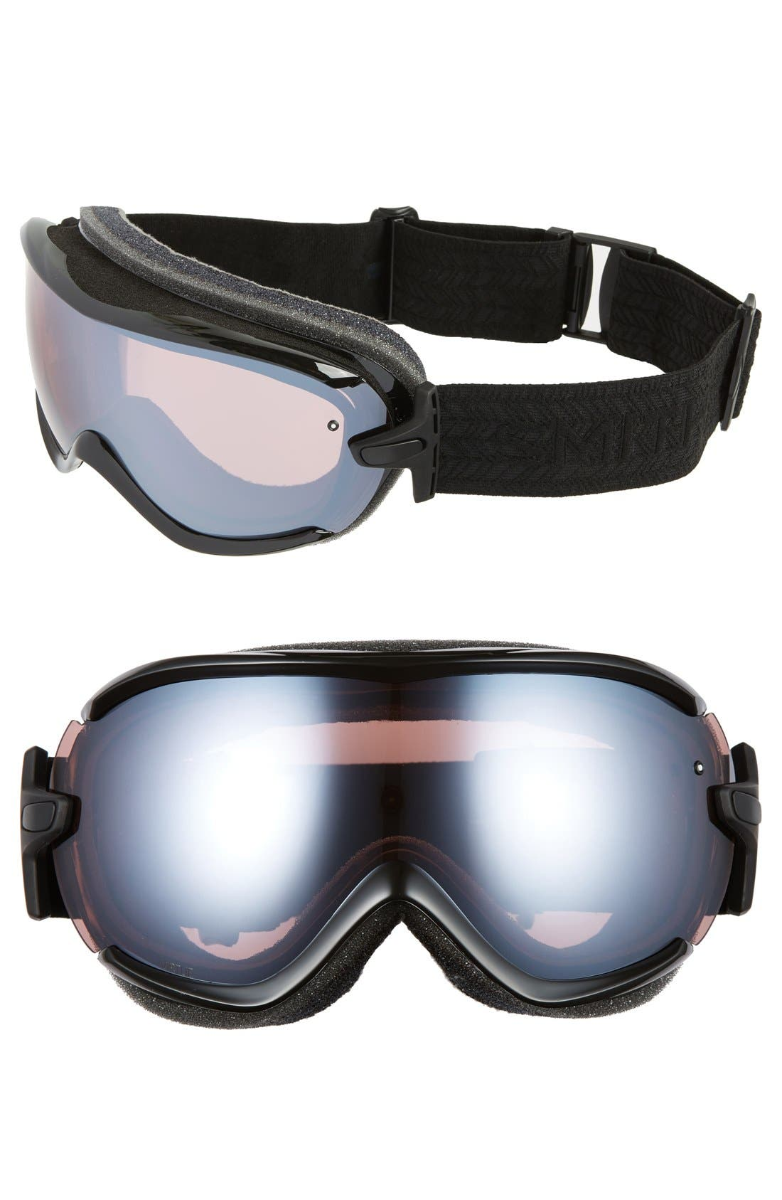 'Virtue' Snow Goggles,                             Main thumbnail 1, color,                             Black Eclipse/ Ignitor Mirror
