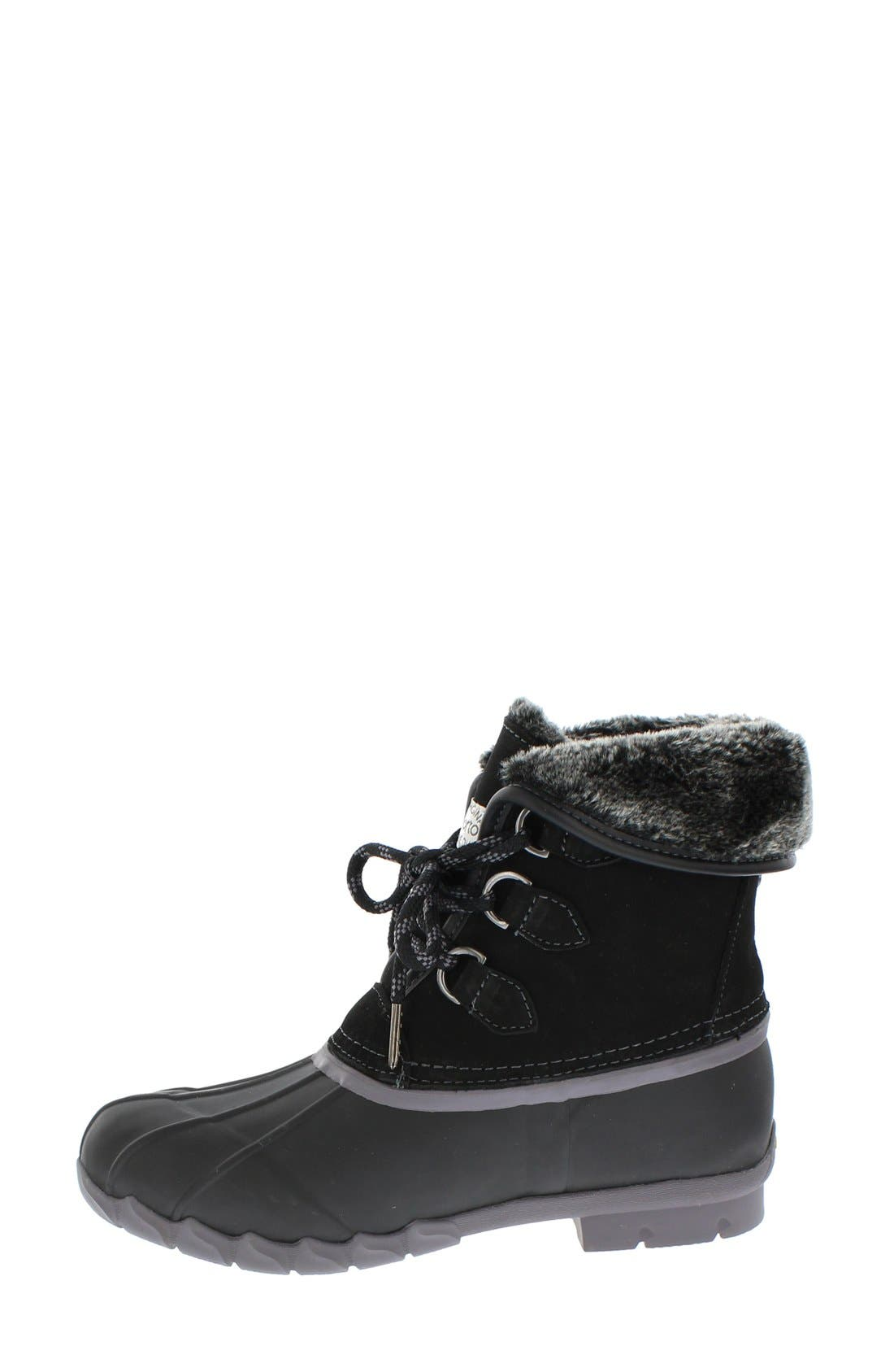 Defrost Faux Fur Lined Duck Boot,                             Alternate thumbnail 2, color,                             Black/ Black