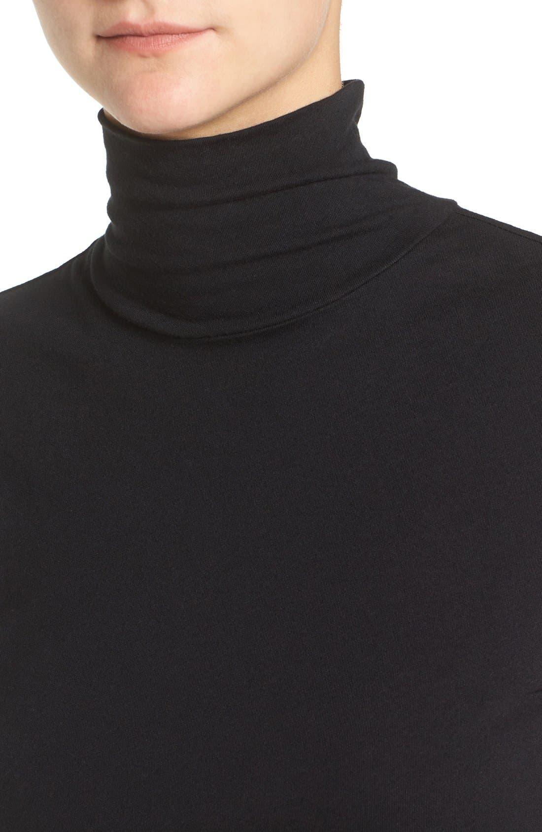 Alternate Image 4  - James Perse Turtleneck Midi Dress