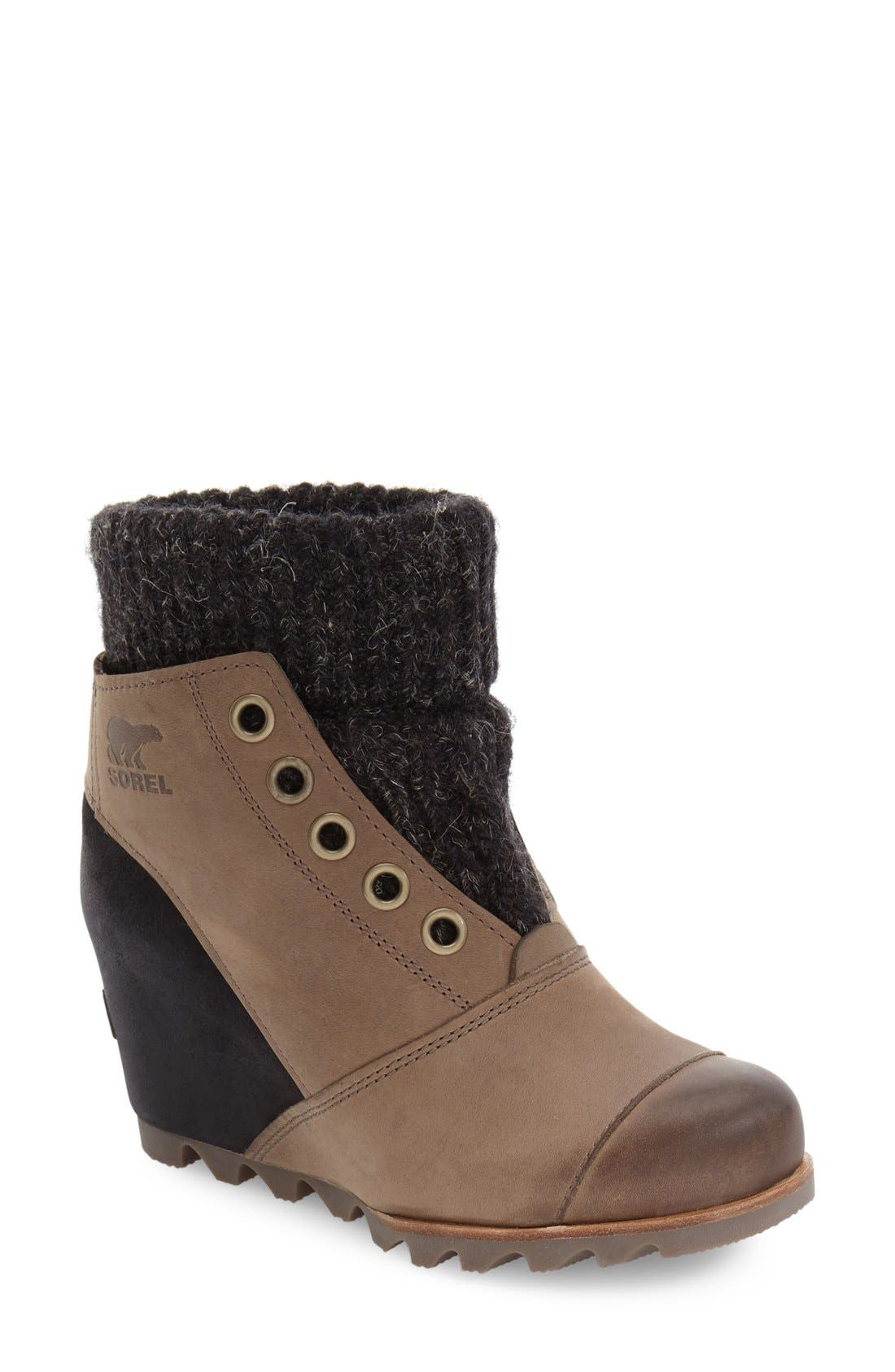 Alternate Image 1 Selected - SOREL Joanie Waterproof Wedge Bootie (Women)