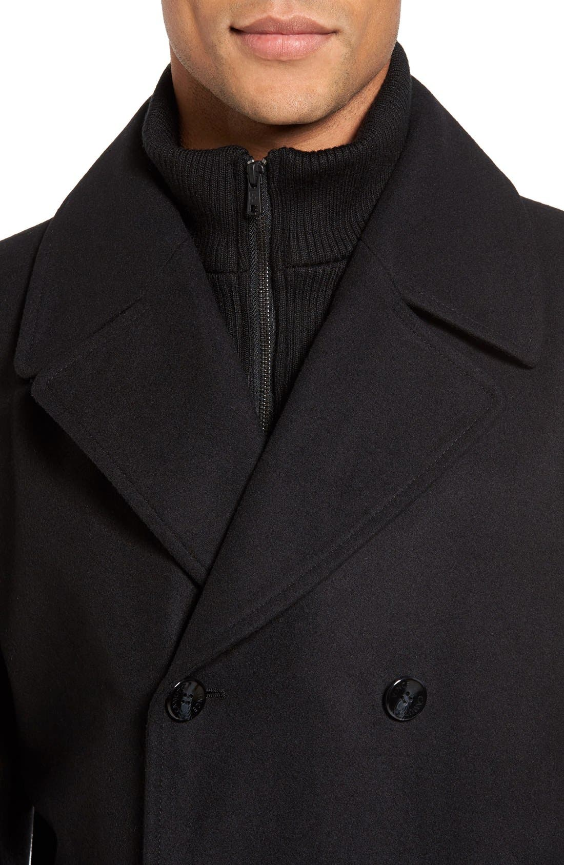 Dock Peacoat,                             Alternate thumbnail 4, color,                             Black