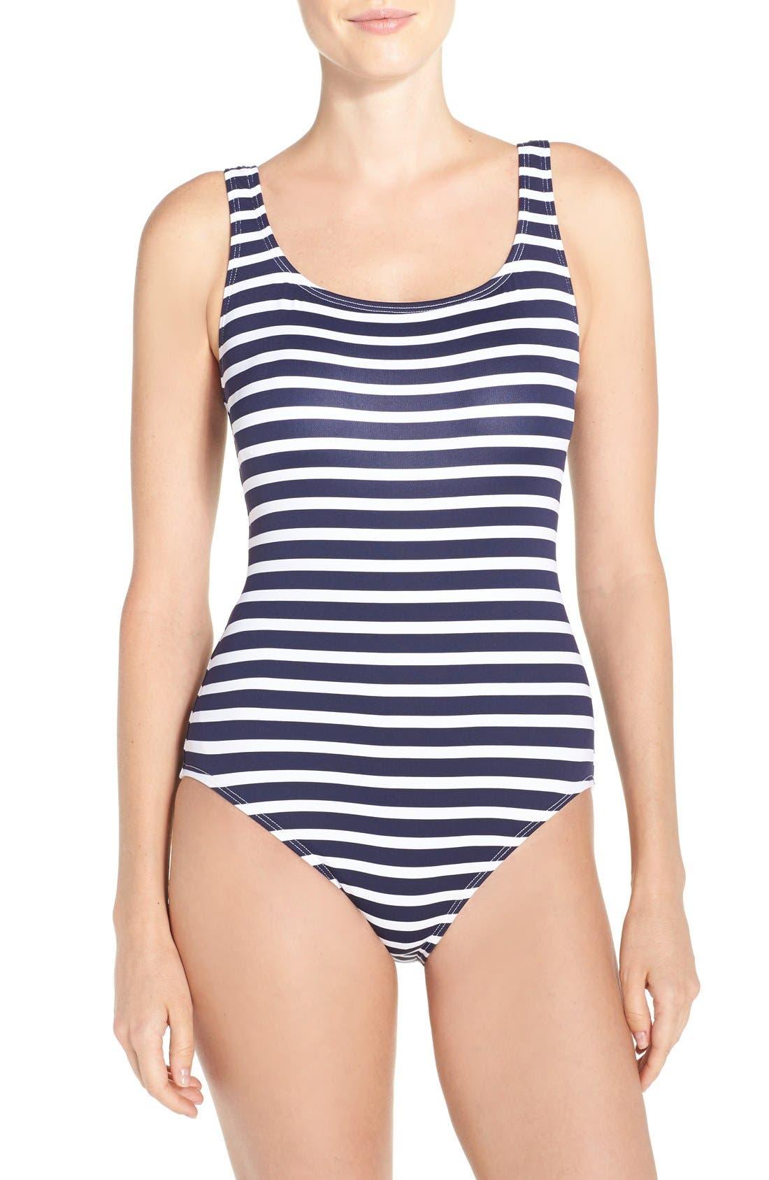 Main Image - Tommy Bahama Breton Stripe One-Piece Swimsuit