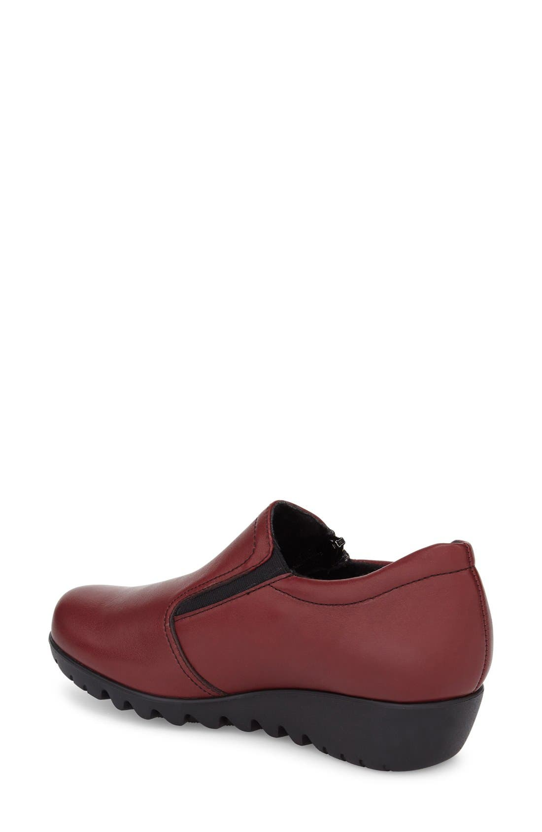 Napoli Zip Bootie,                             Alternate thumbnail 2, color,                             Red Leather