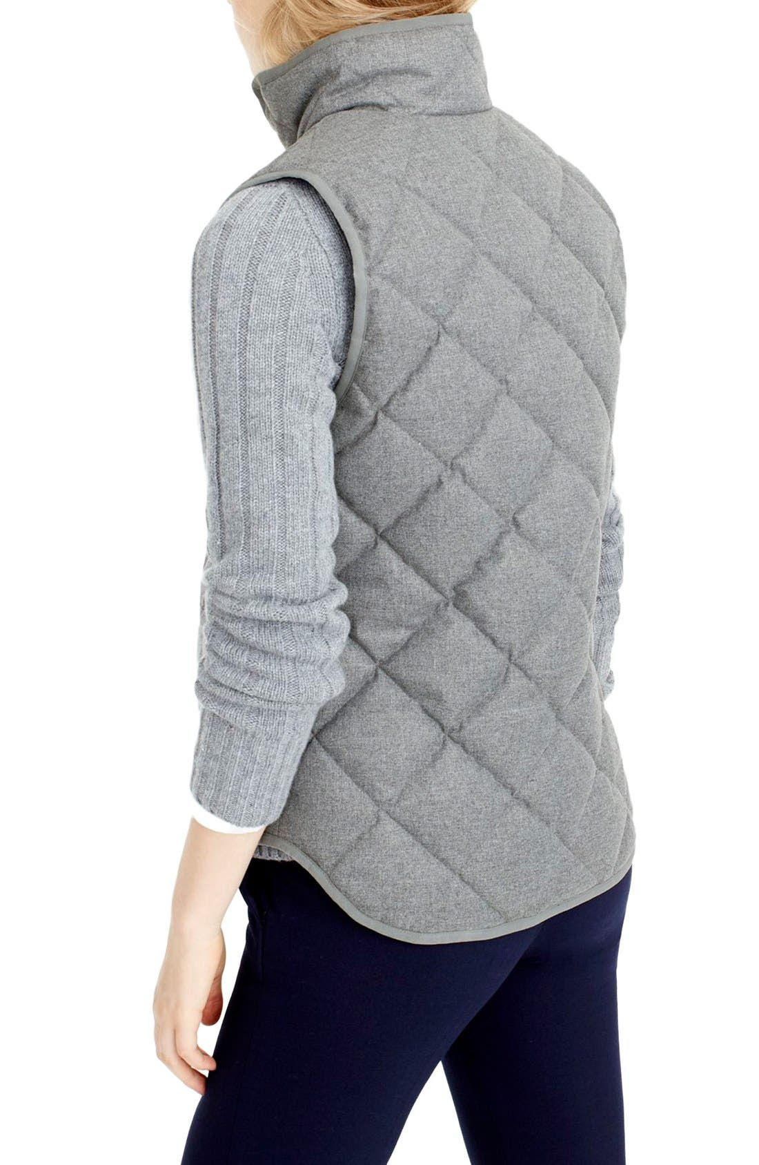 Alternate Image 2  - J.Crew Excursion Quilted Flannel Vest (Regular & Petite)