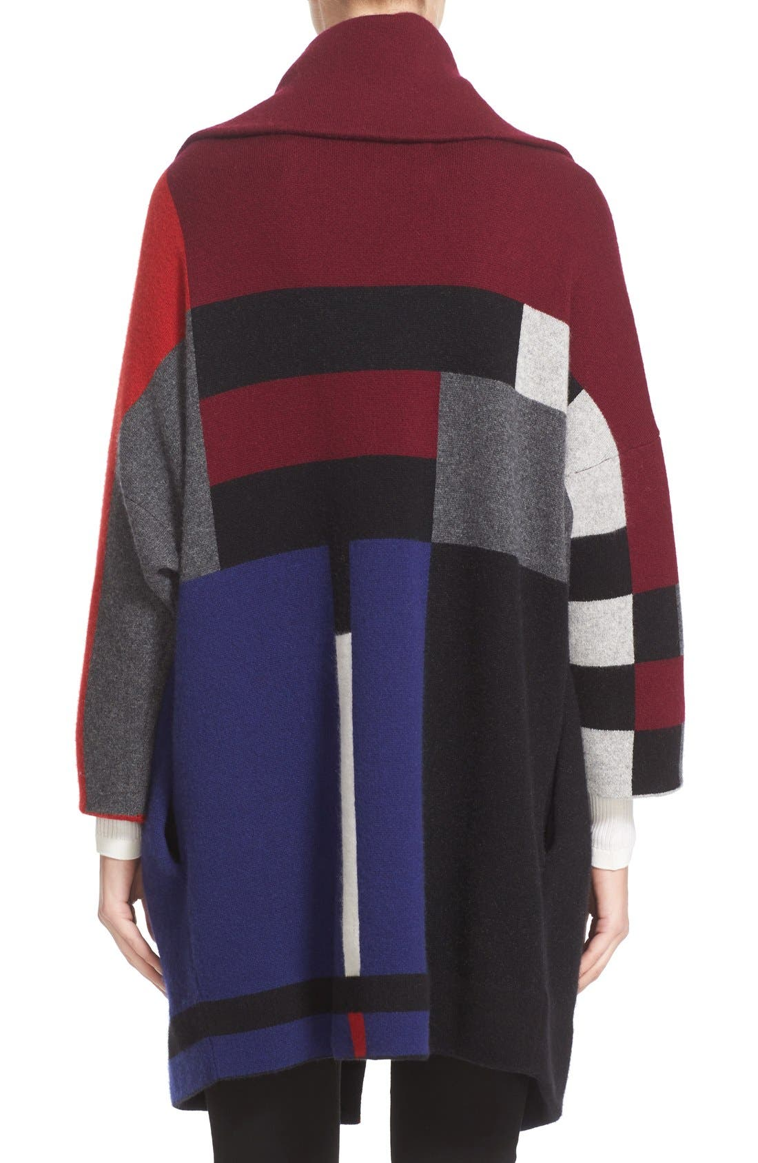 Alternate Image 2  - Burberry Halladale Check Knit Wool & Cashmere Wrap
