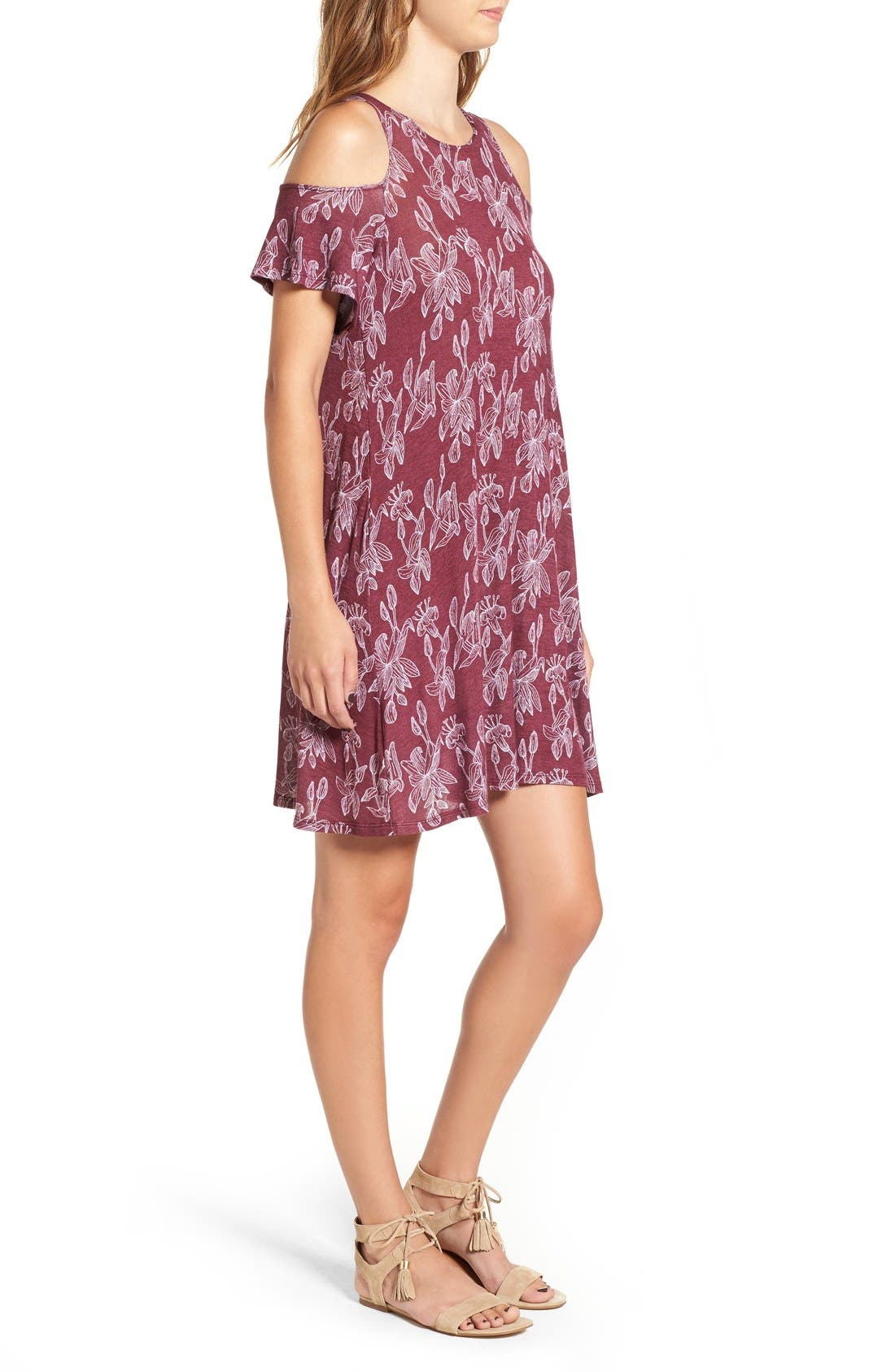 Alternate Image 3  - Michelle by Comune 'Walthamstow' Floral Print Shift Dress