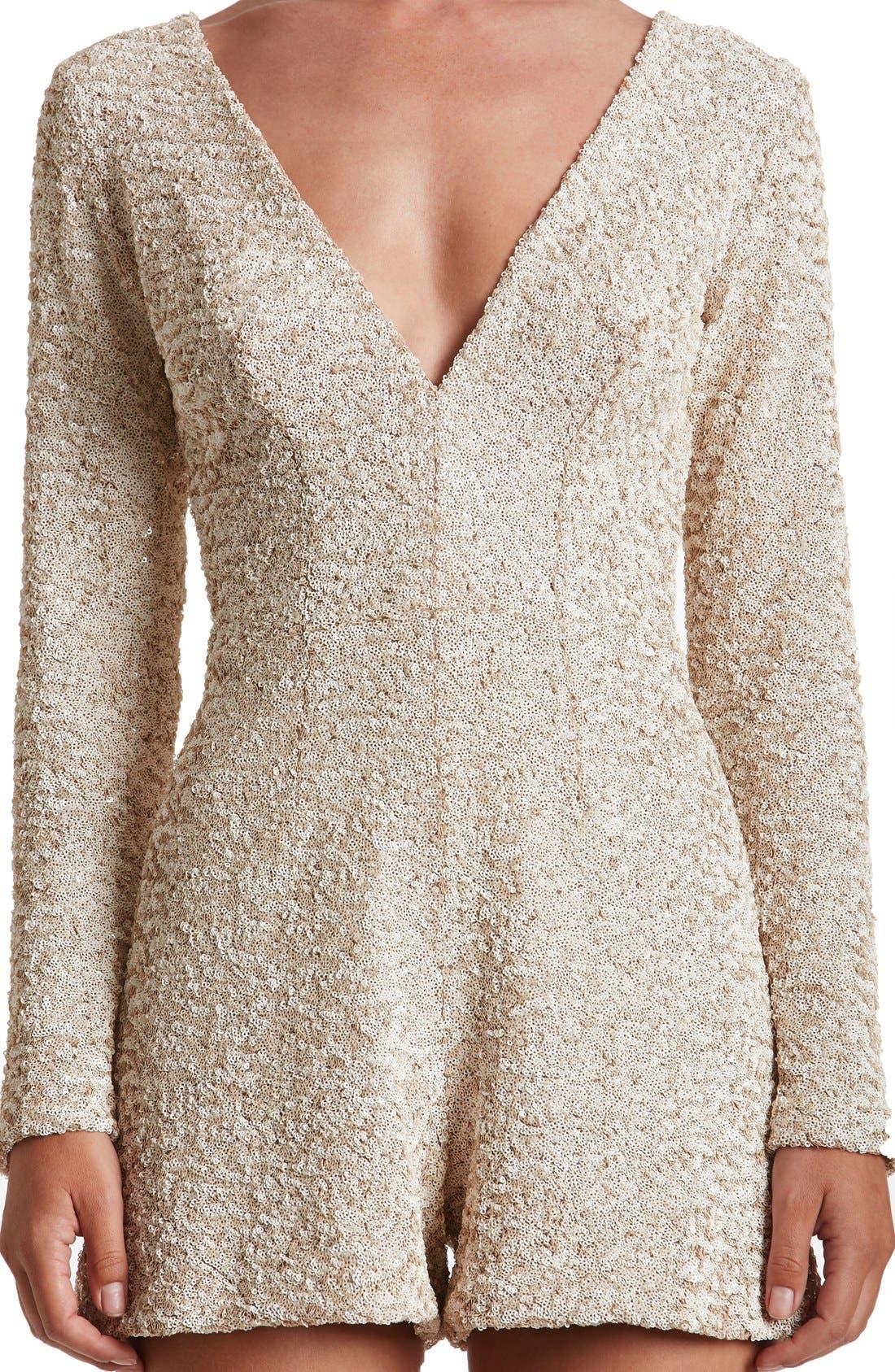 Alternate Image 5  - Dress the Population Bianca Sequin Romper