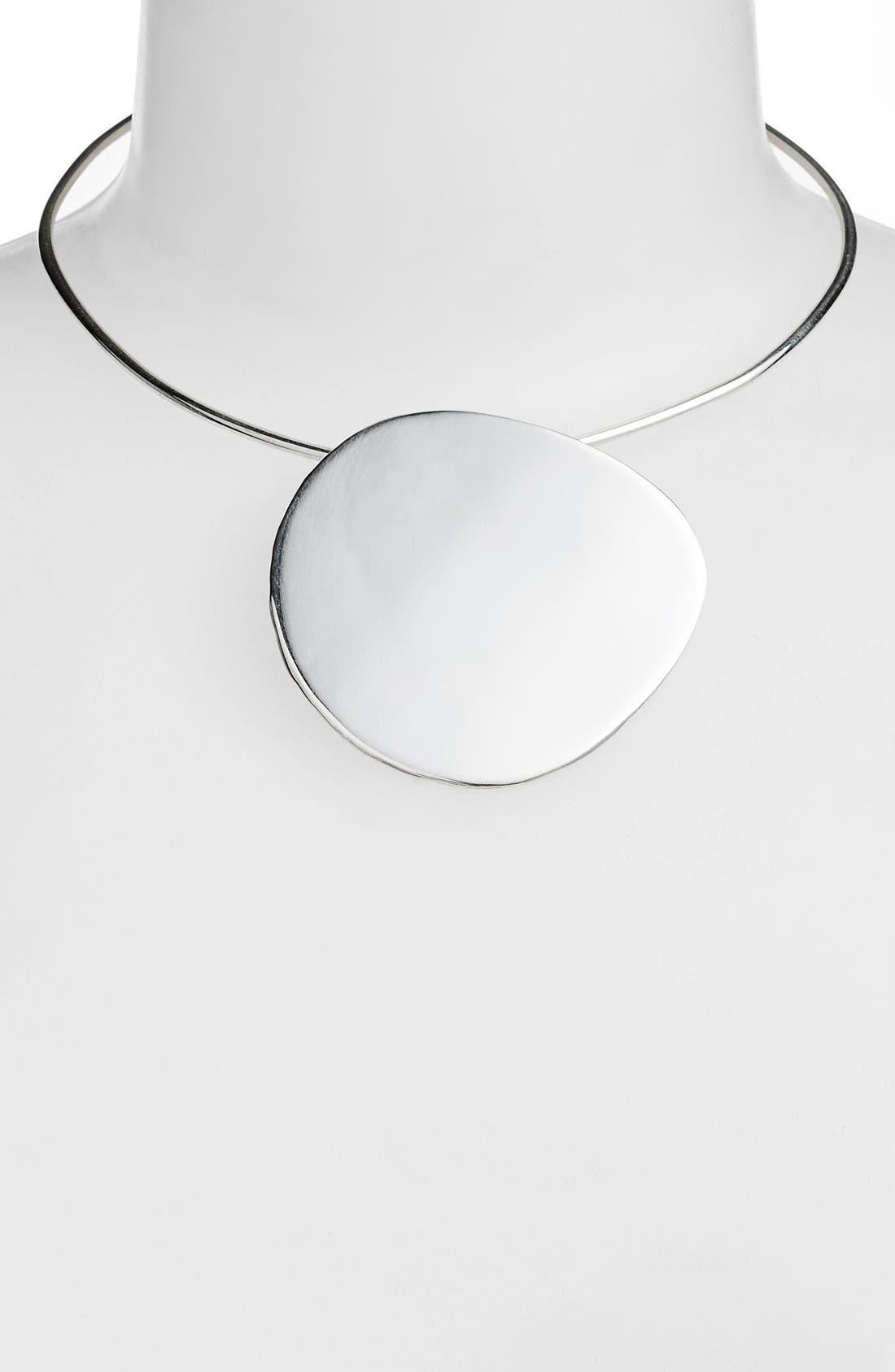 Pendo Collar Necklace,                             Alternate thumbnail 2, color,                             Silver