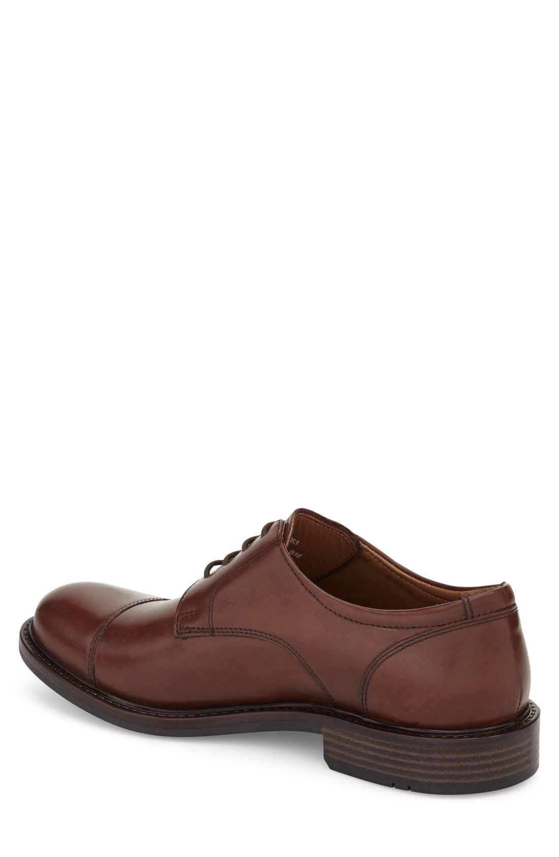 Tabor Cap Toe Derby,                             Alternate thumbnail 2, color,                             Brown Leather