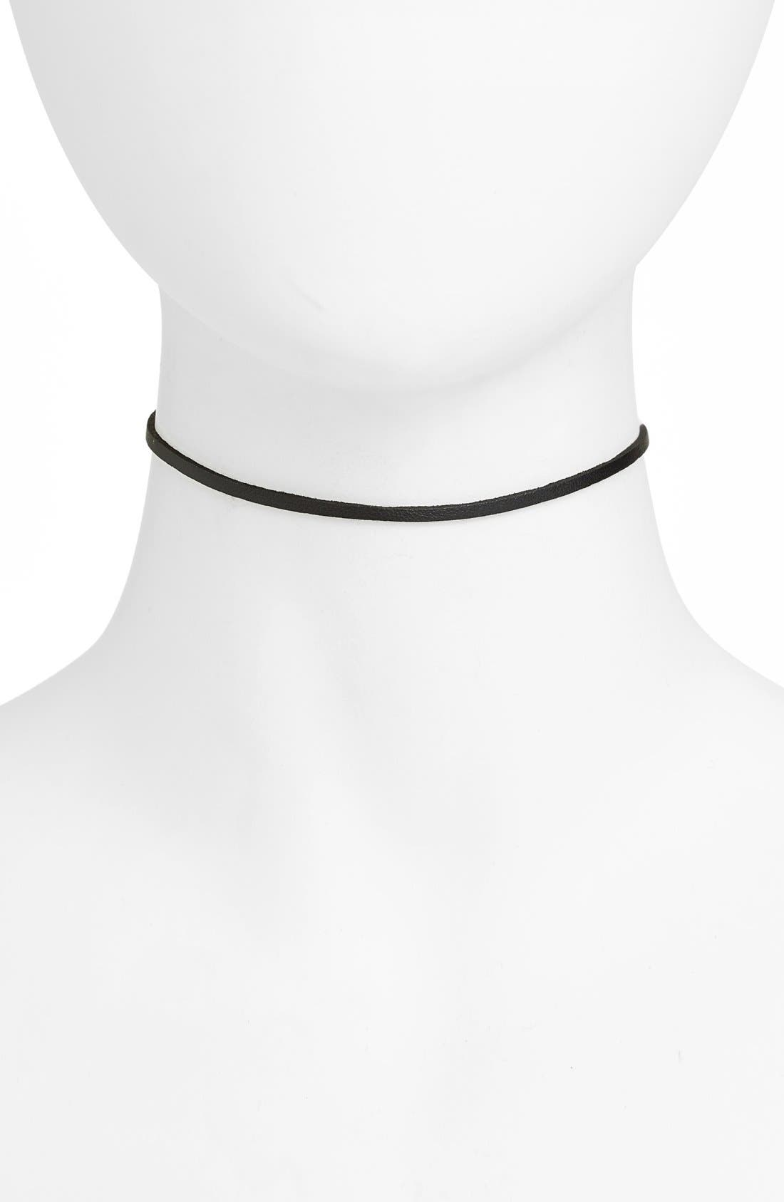 Vanessa Mooney Tibi Faux Leather Choker Necklace