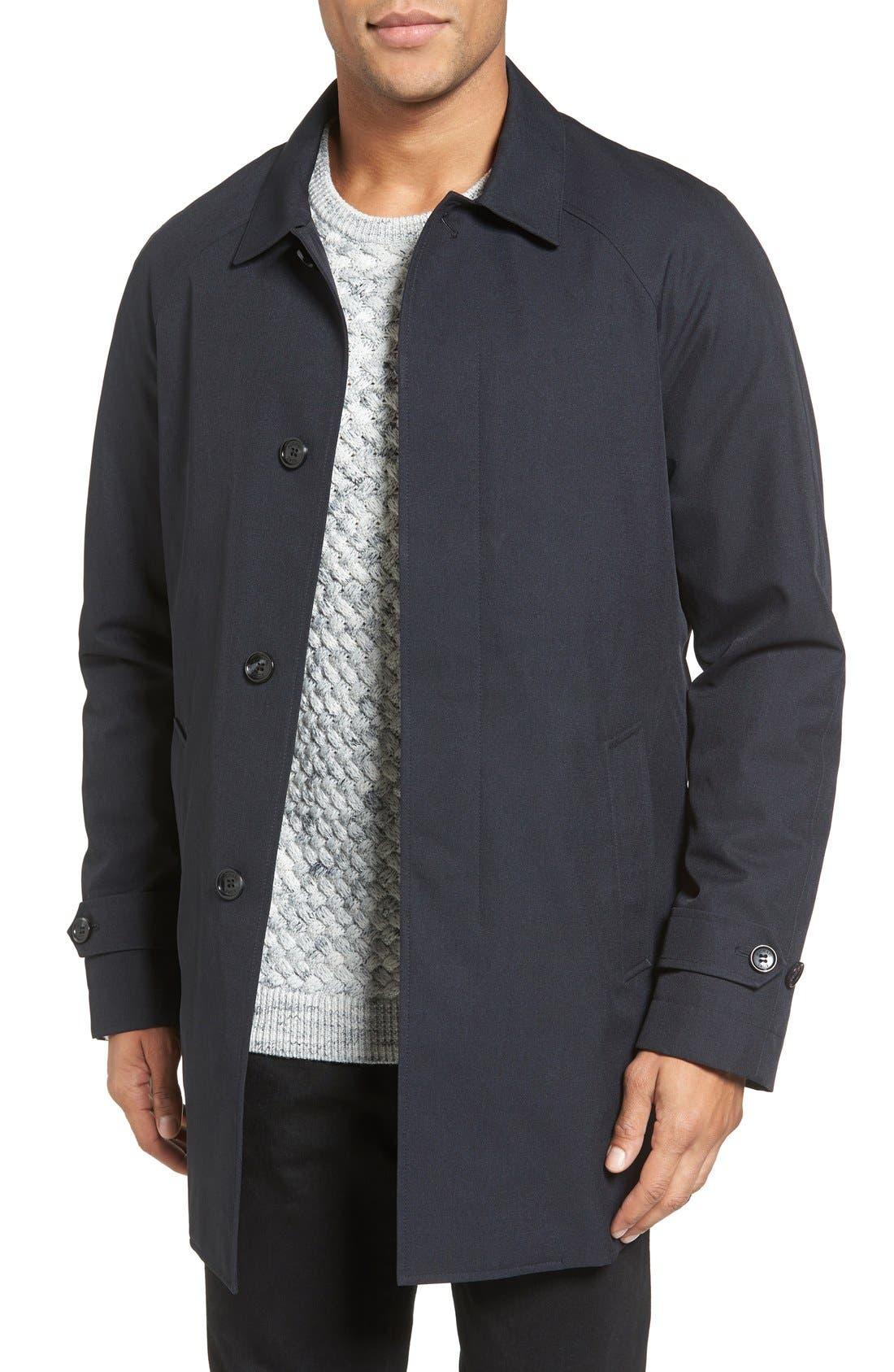 Waterproof Jacket,                         Main,                         color, Black Heather