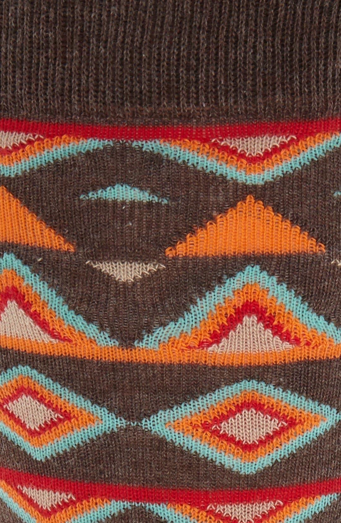 Temple Cotton Blend Socks,                             Alternate thumbnail 2, color,                             Black/ Orange